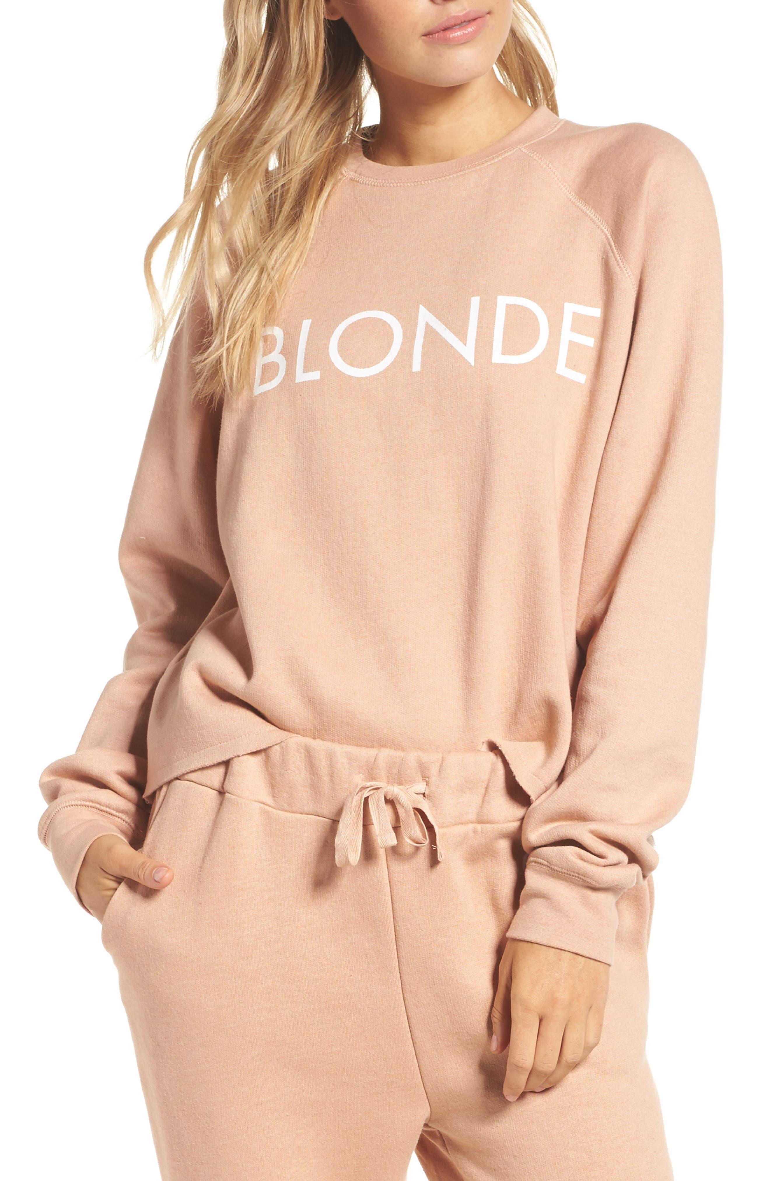 Middle Sister Blonde Sweatshirt,                             Main thumbnail 1, color,                             Beige