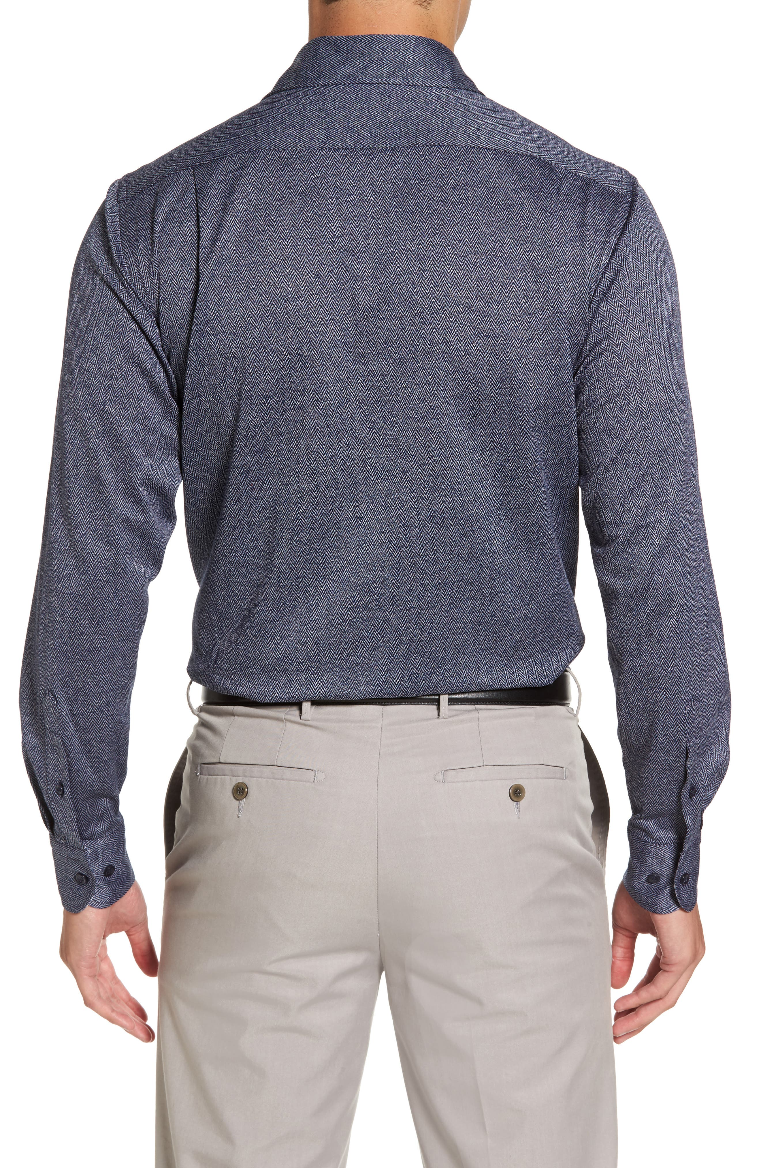 Alternate Image 2  - Paul & Shark Herringbone Sport Shirt
