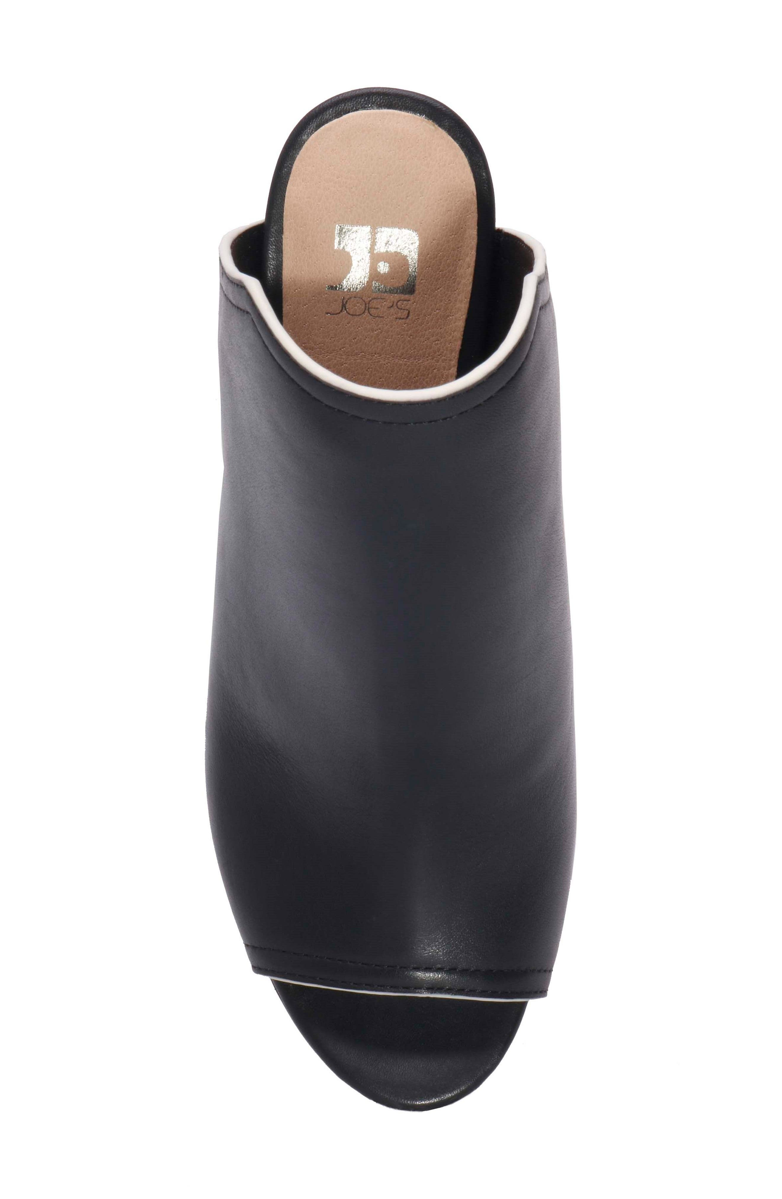 Honor Open Toe Mule,                             Alternate thumbnail 4, color,                             Black Leather