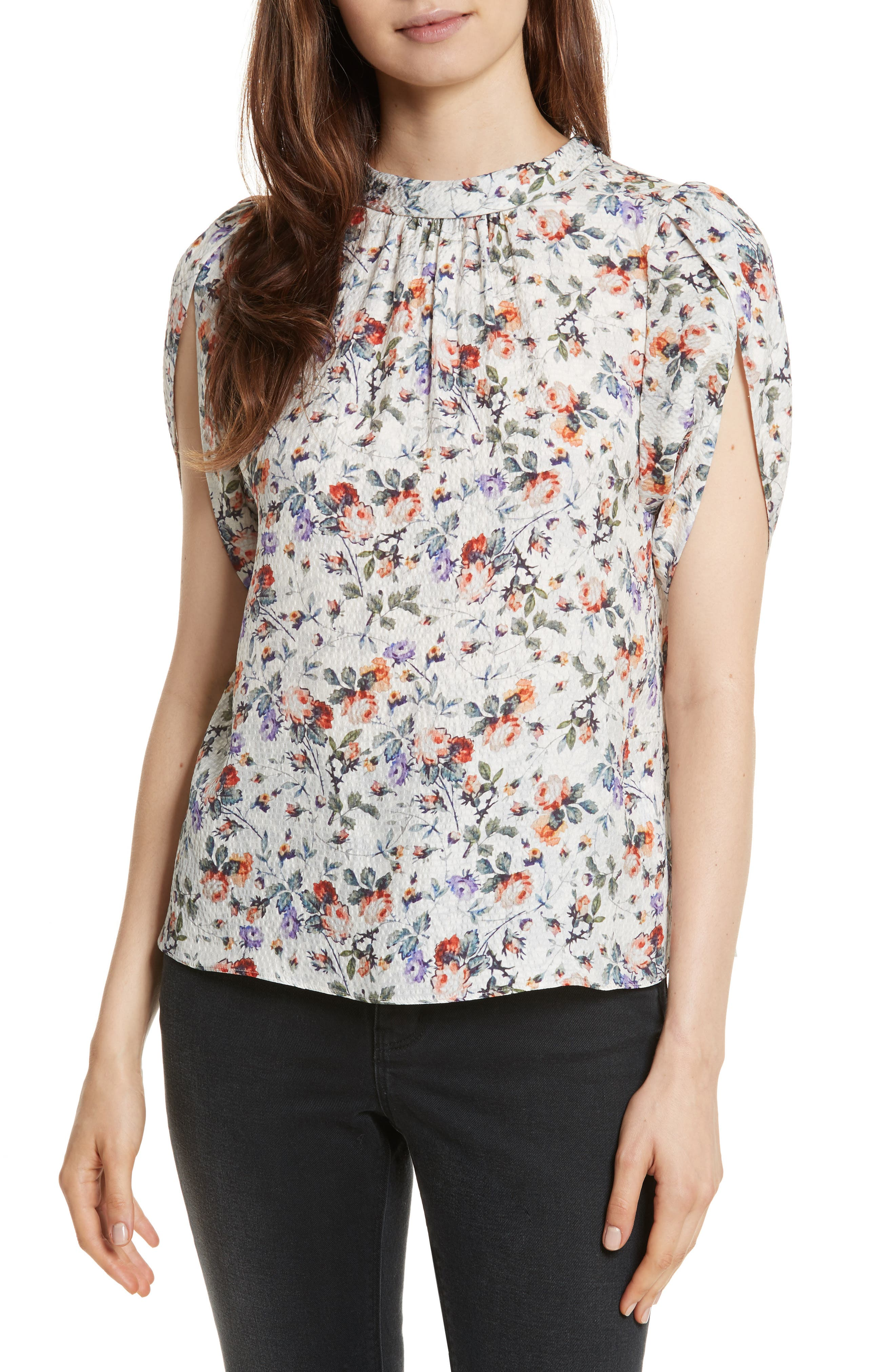 Rebecca Taylor Ruby Floral Silk Top