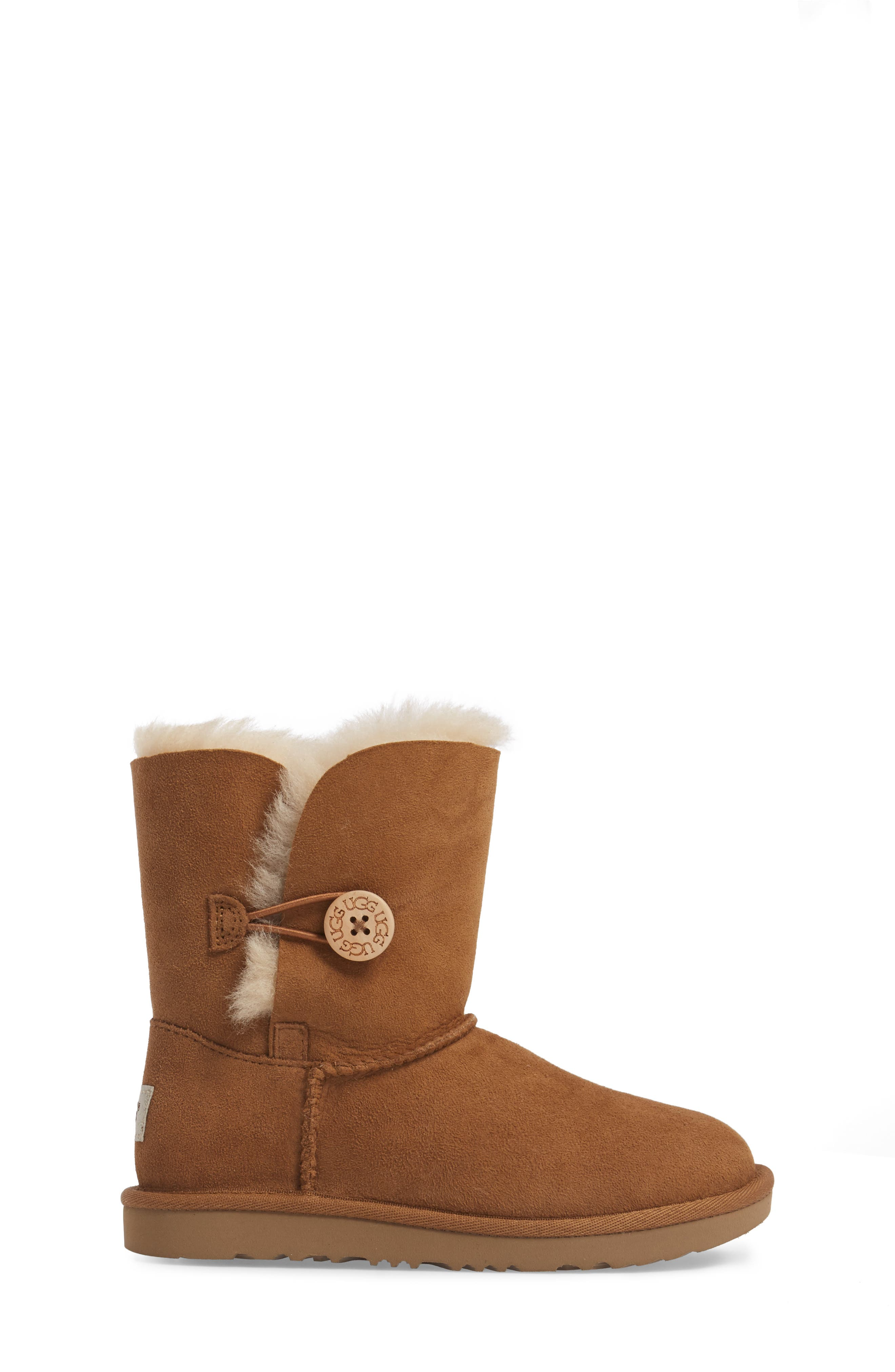 Alternate Image 3  - UGG® Bailey Button II Water Resistant Genuine Shearling Boot (Walker, Toddler, Little Kid & Big Kid)