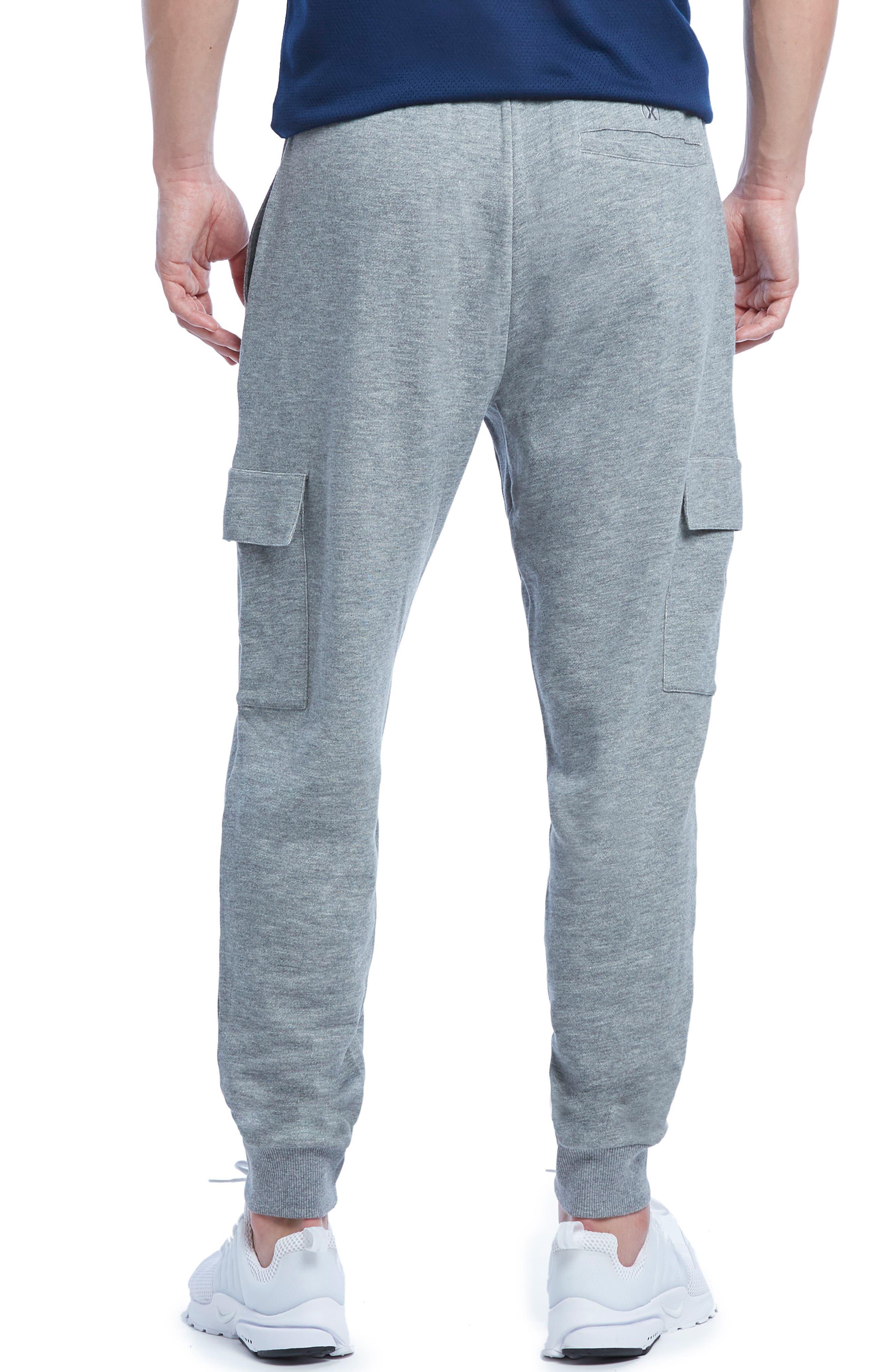 Cotton Blend Cargo Sweatpants,                             Alternate thumbnail 2, color,                             Medium Grey Heather
