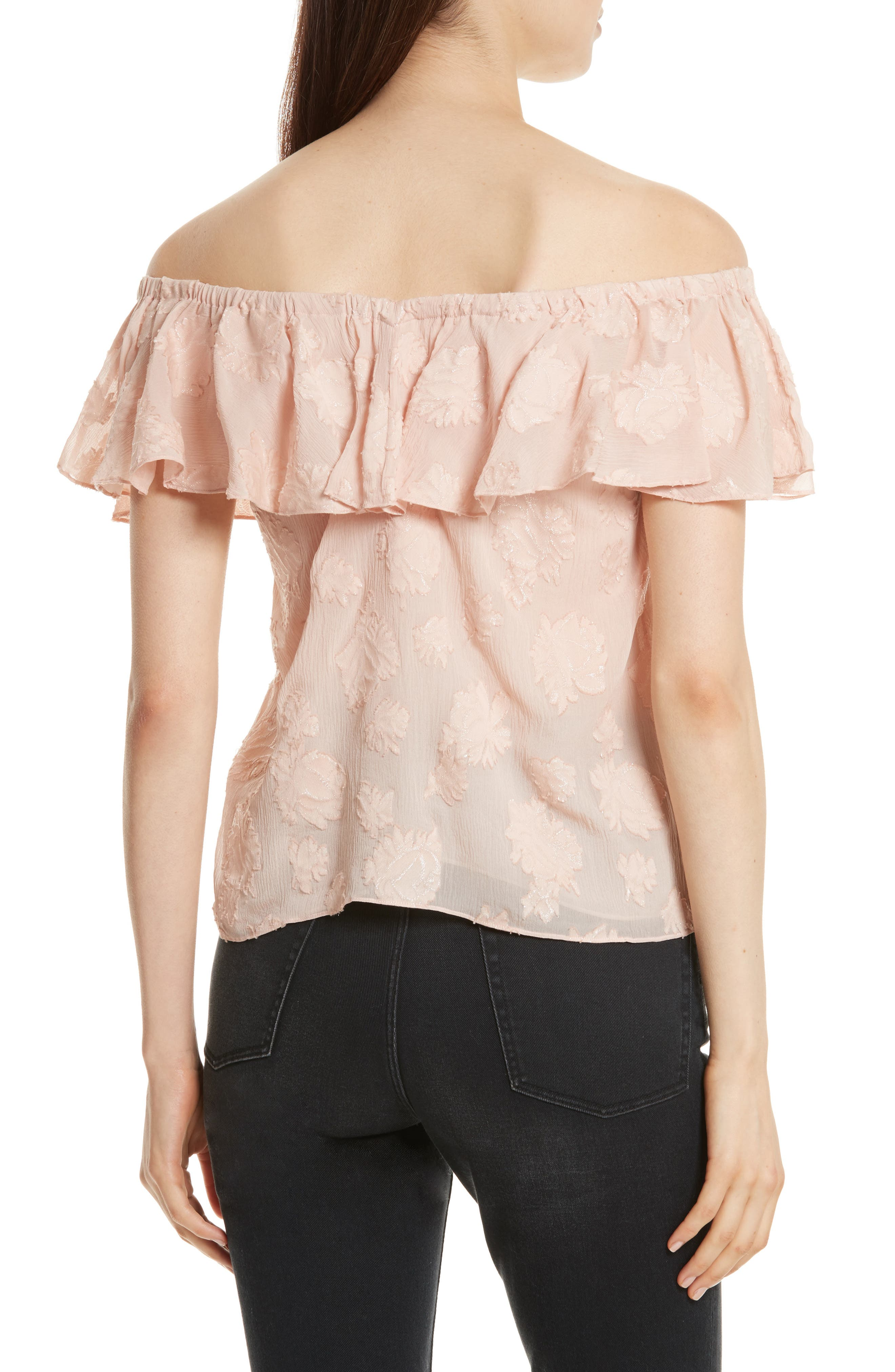 Alternate Image 2  - Rebecca Taylor Rose Metallic Top