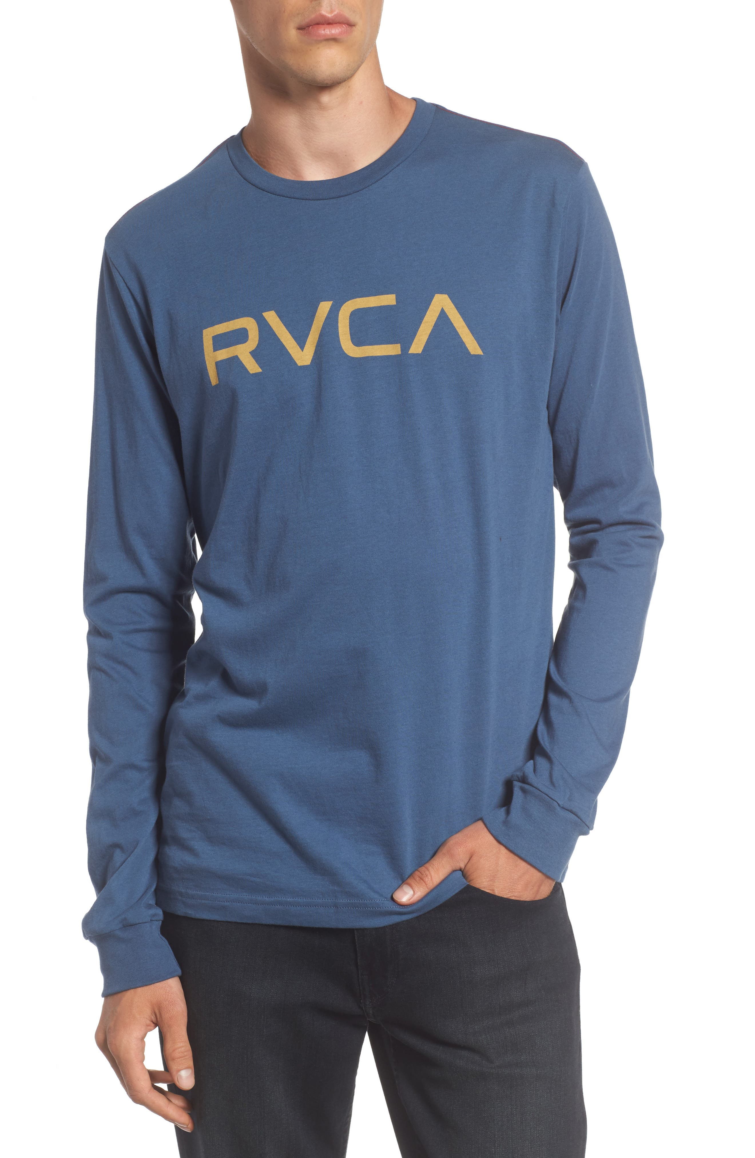 Big RVCA Graphic T-Shirt,                         Main,                         color, Dark Denim