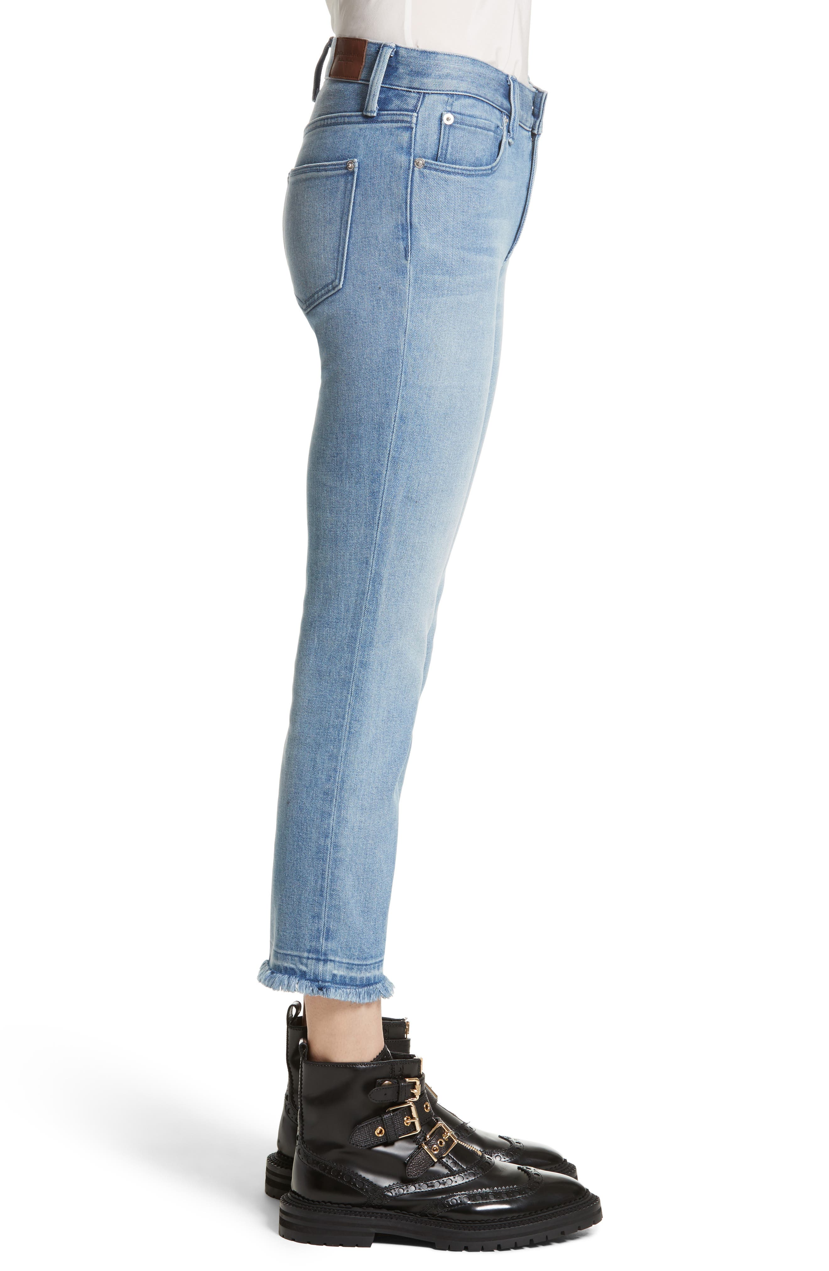 Relaxed Crop Jeans,                             Alternate thumbnail 3, color,                             Pale Blue