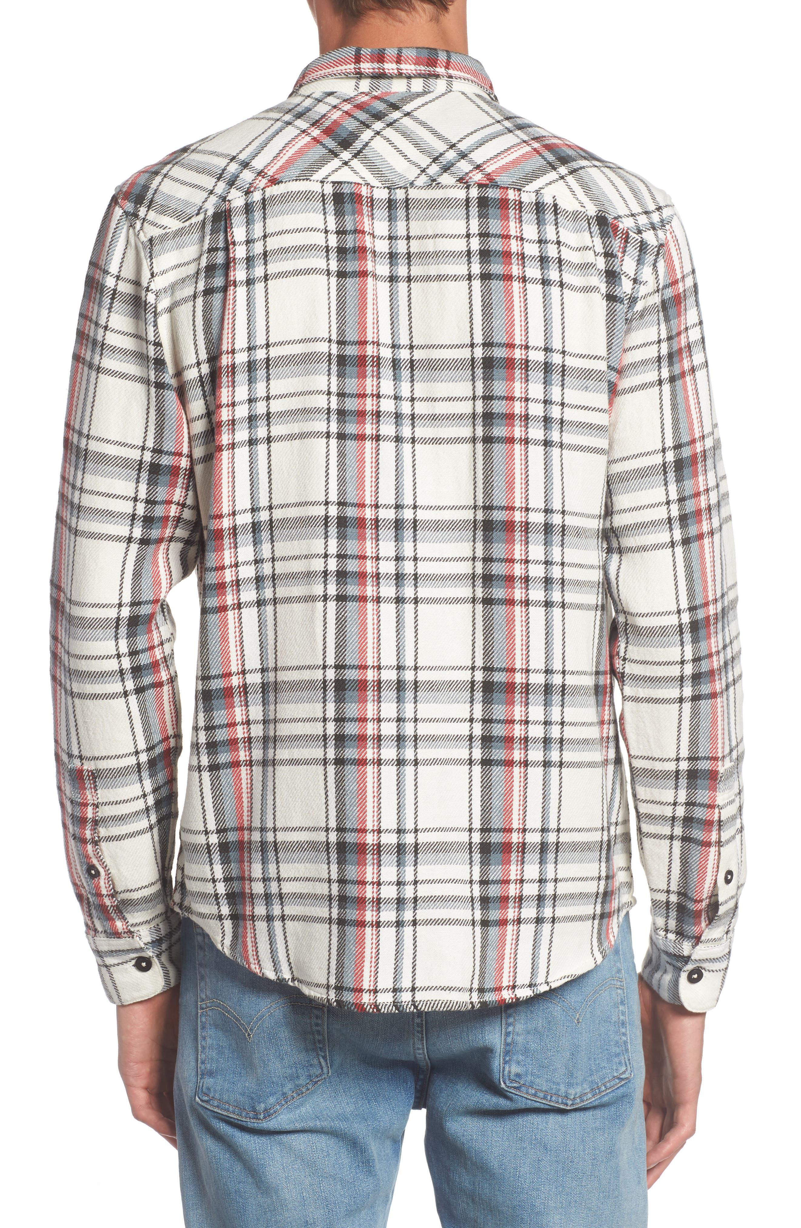 Alternate Image 2  - RVCA Camino Plaid Flannel Shirt