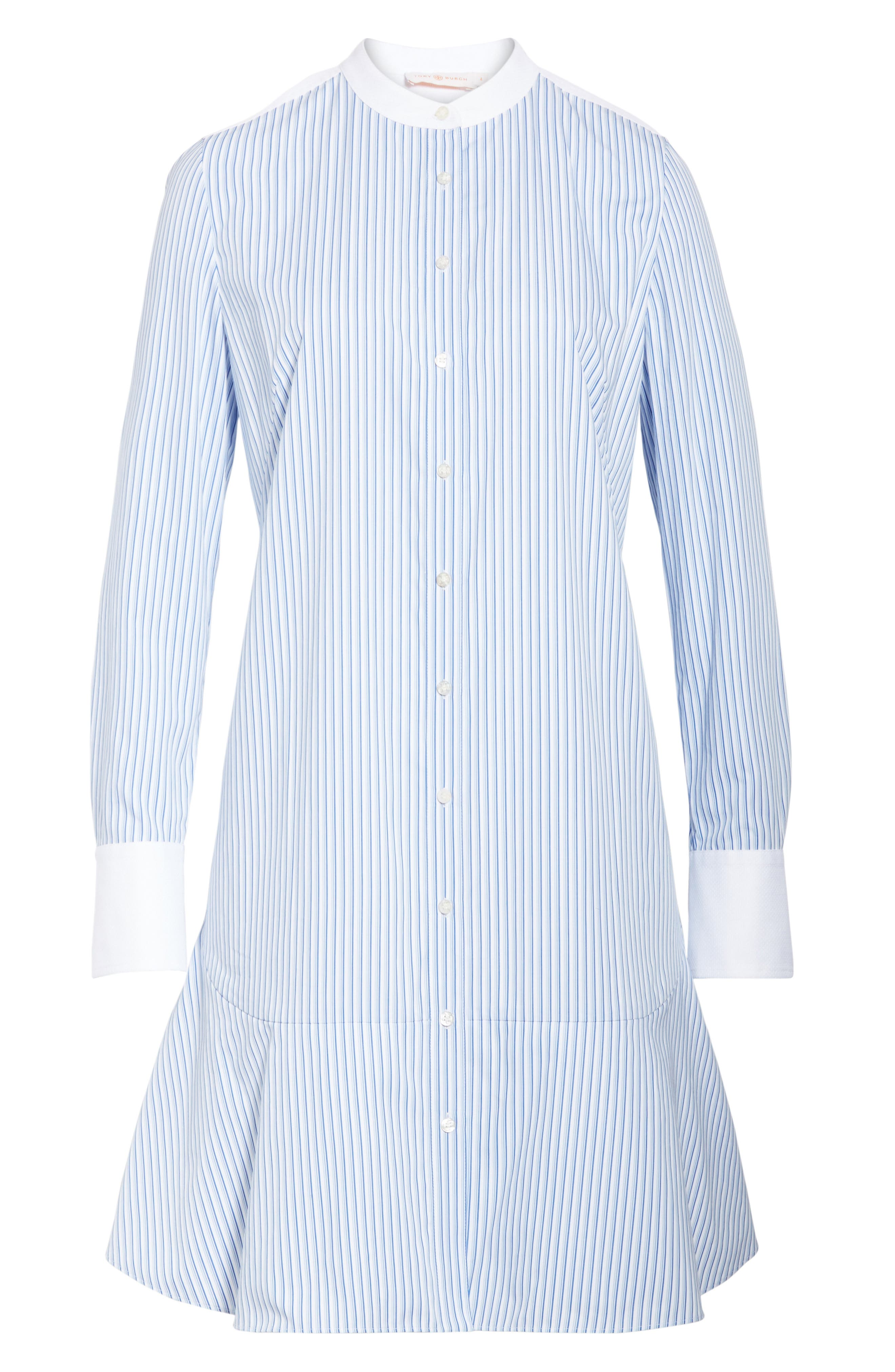 Alternate Image 6  - Tory Burch Cora Stripe Shirtdress