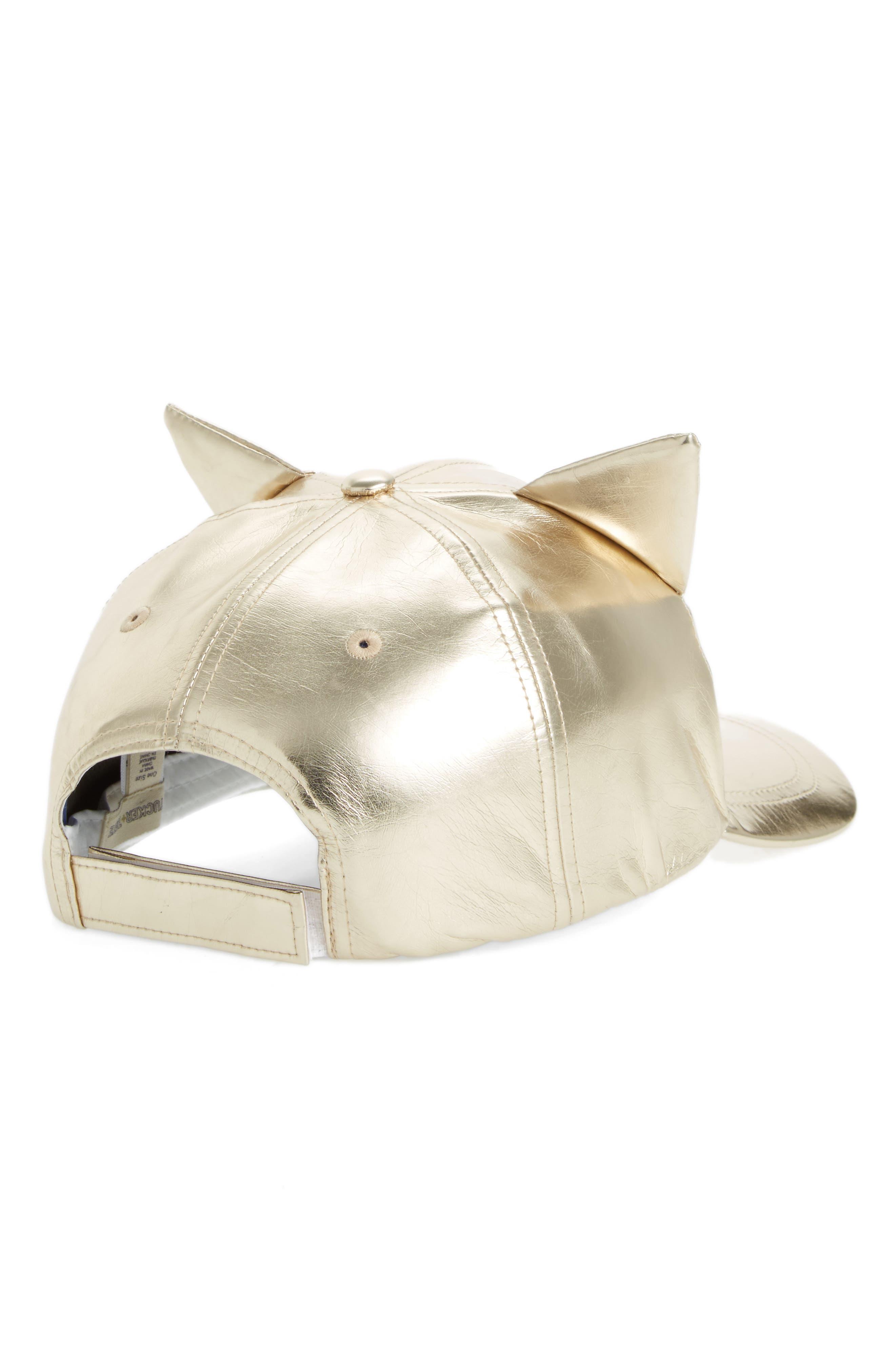Alternate Image 2  - Tucker + Tate Cat Ears Baseball Cap (Big Girls)