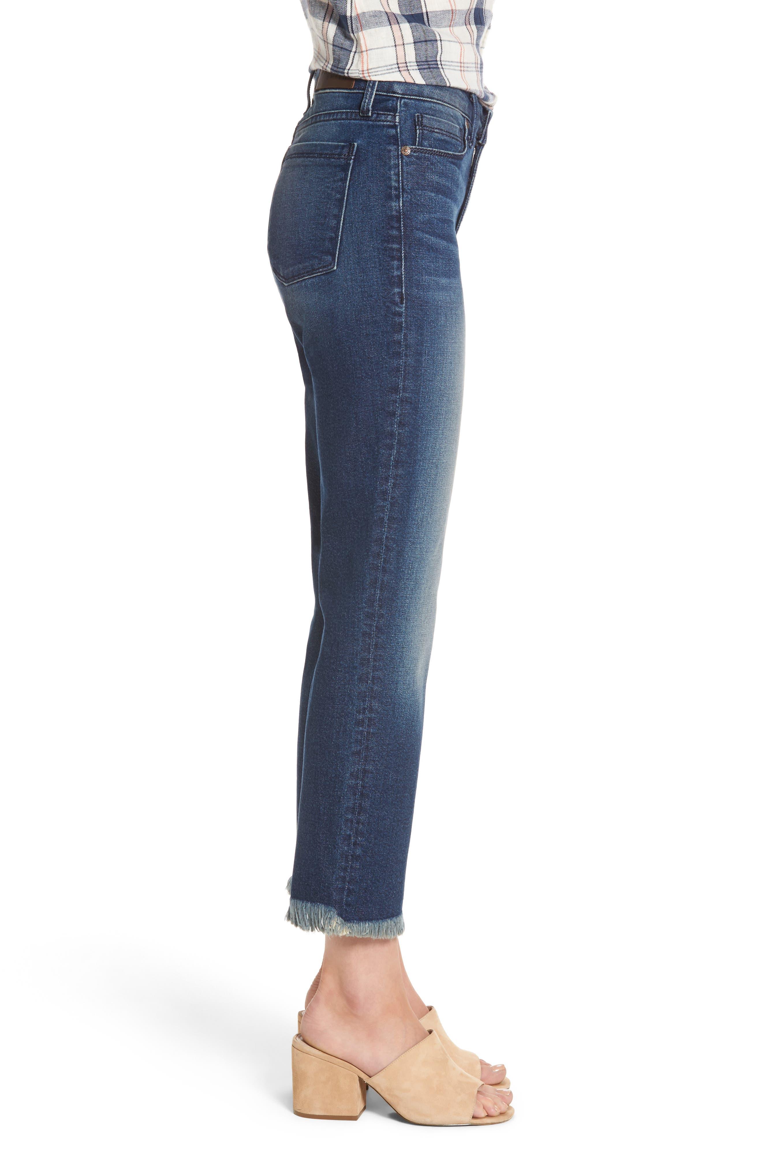 Alternate Image 3  - PARKER SMITH Pin-Up Crop Straight Leg Jeans (Captain)
