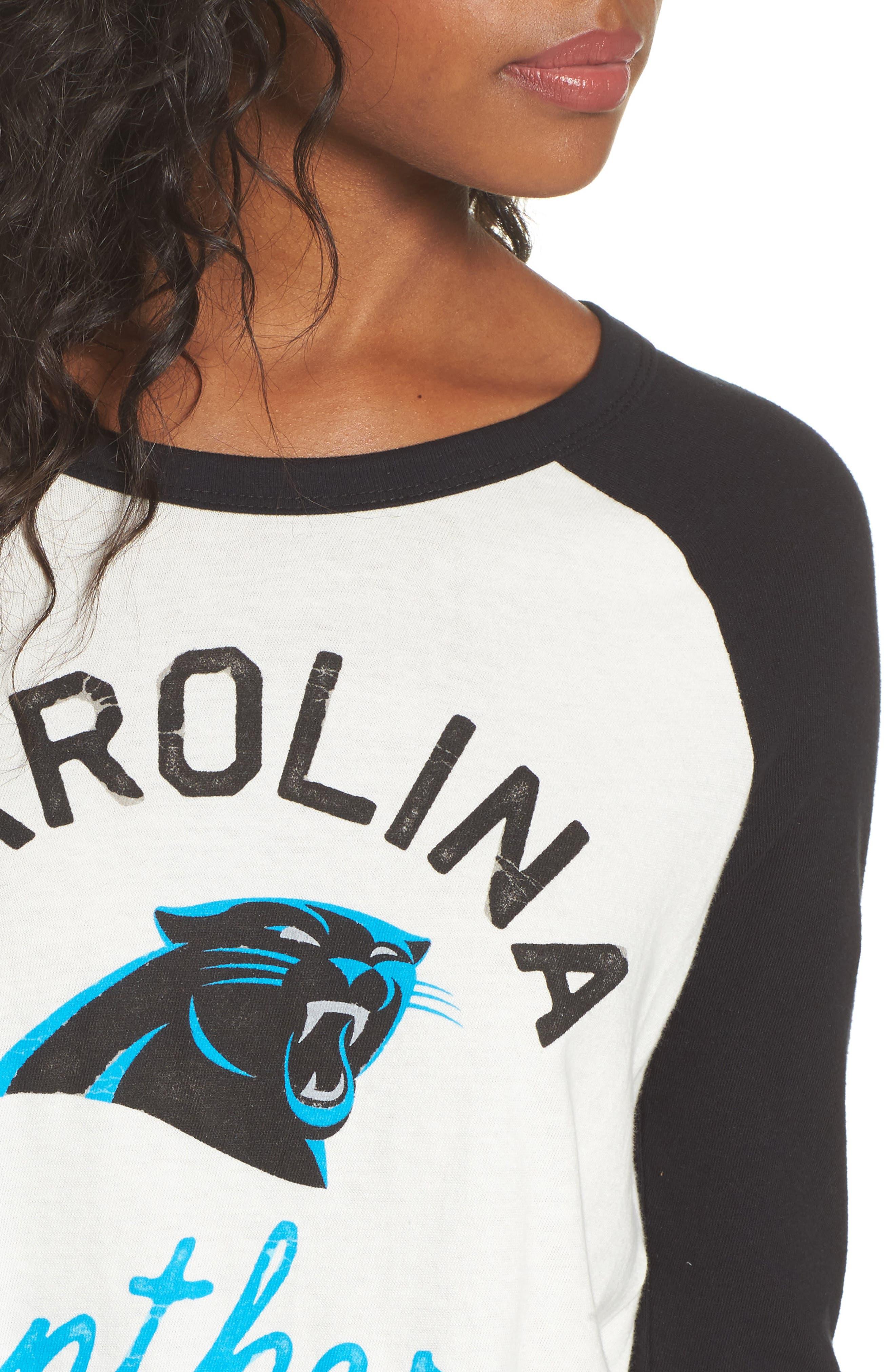 NFL Carolina Panthers Raglan Tee,                             Alternate thumbnail 4, color,                             Sugar/ True Black