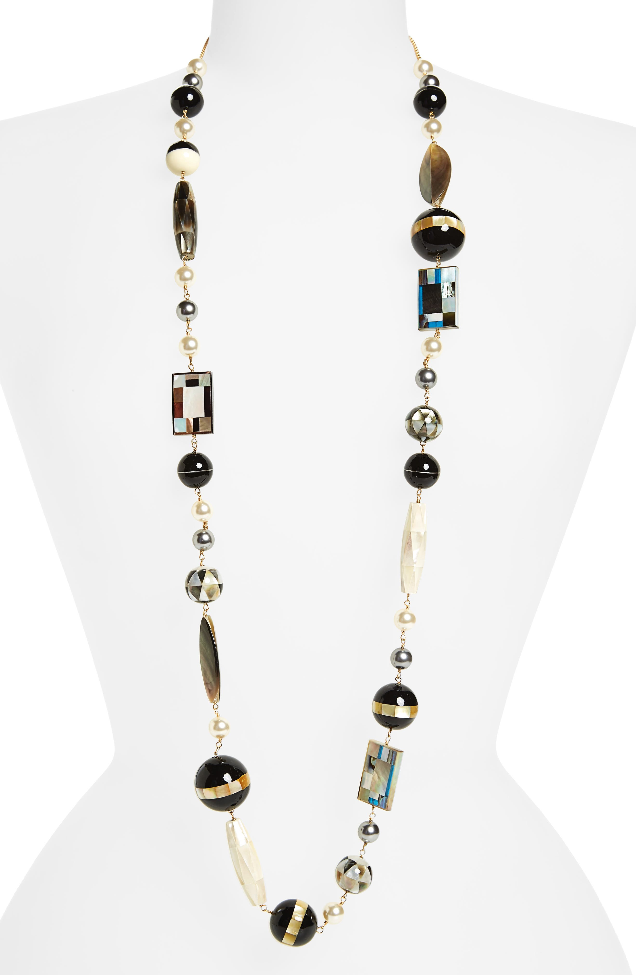 TORY BURCH Long Beaded Necklace