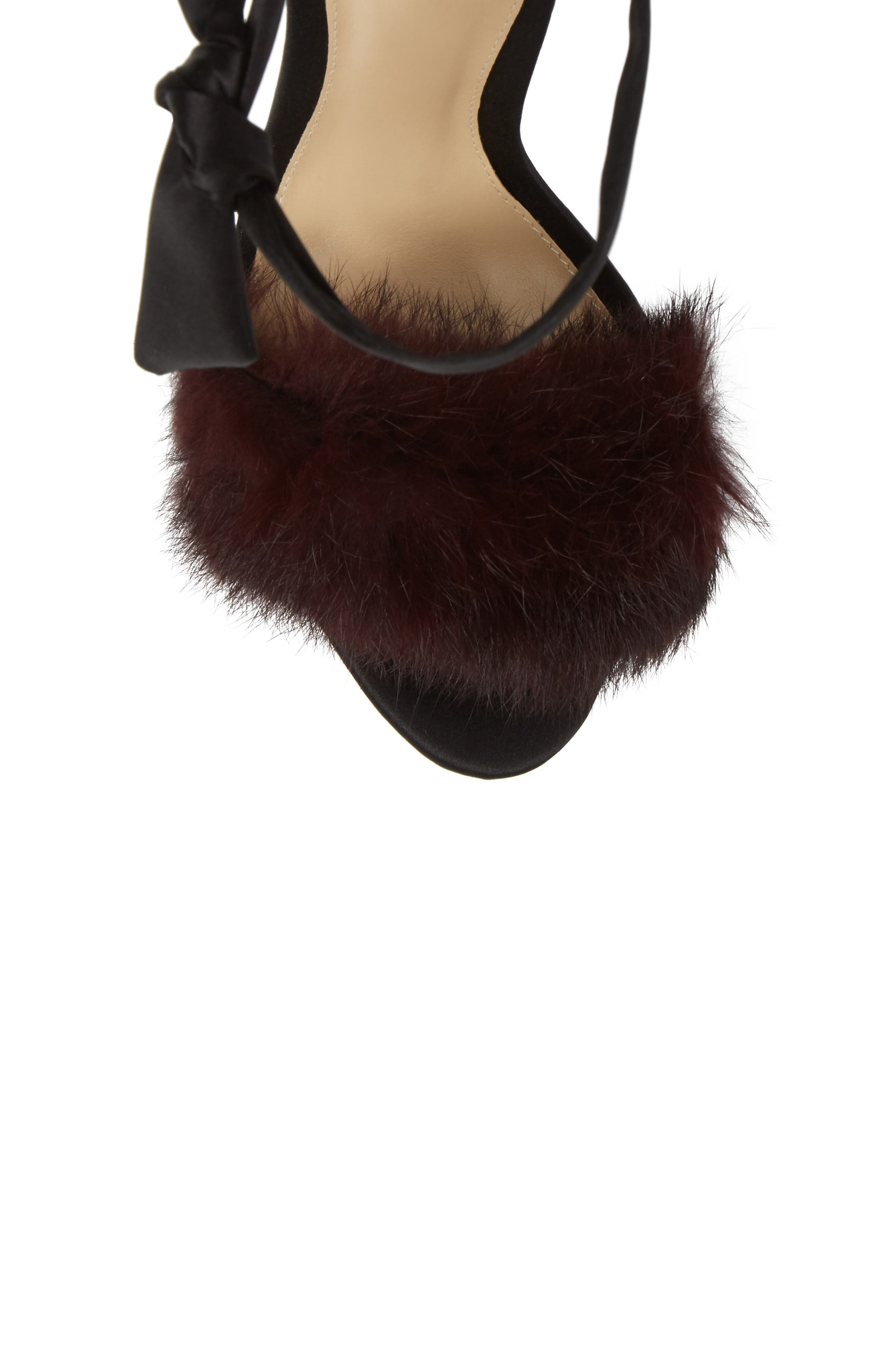 Alternate Image 5  - Alexandre Birman Clarita Genuine Rabbit Fur Sandal (Women)