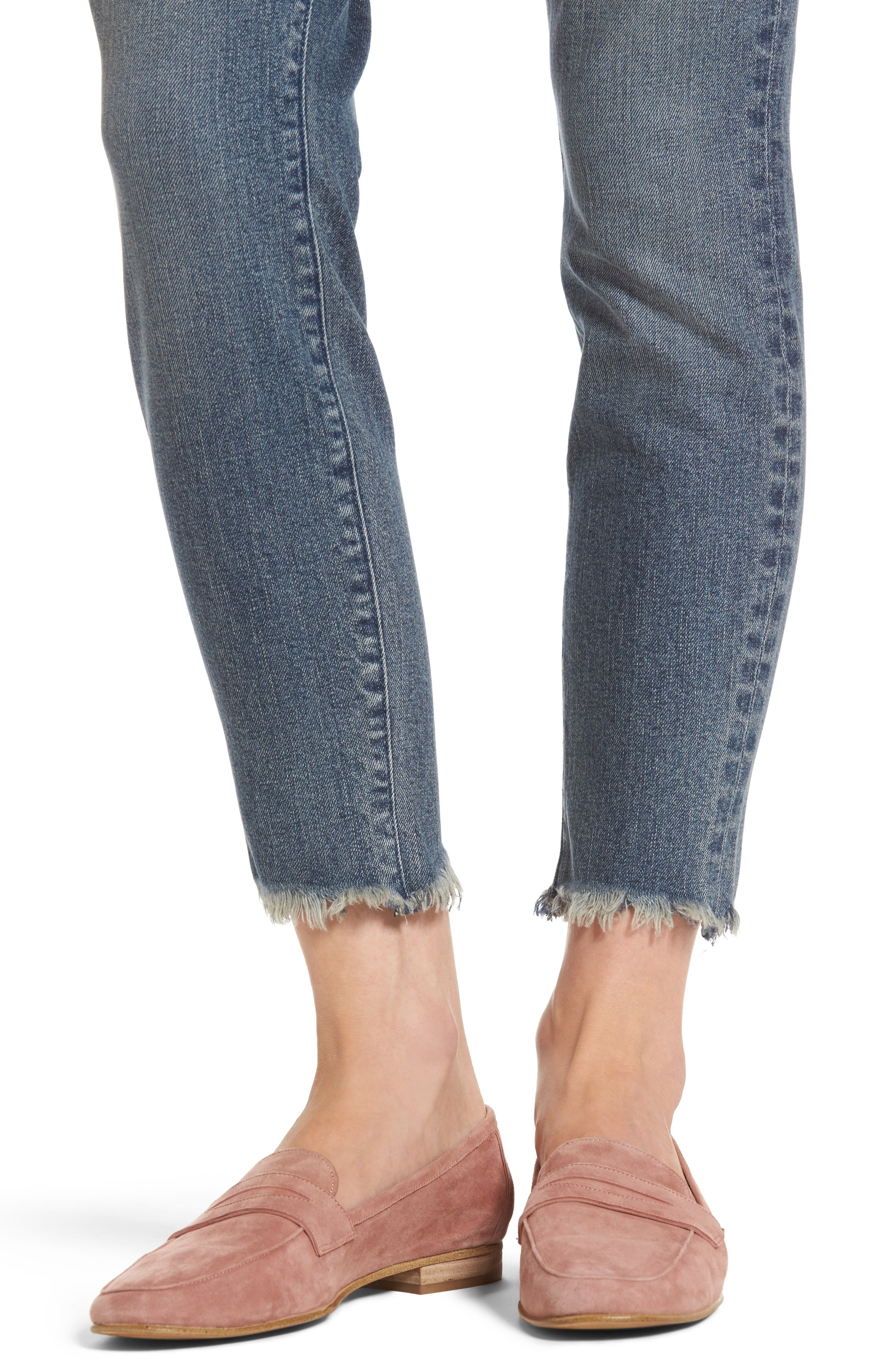 Alternate Image 4  - PARKER SMITH Ava Crop Skinny Jeans (Madeline)