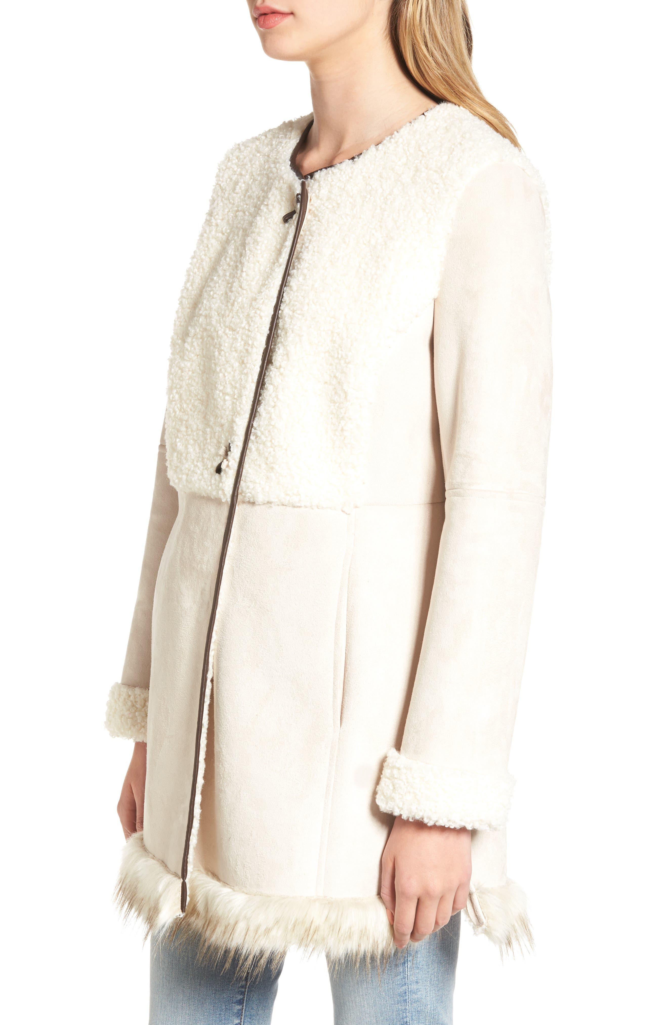 Alternate Image 3  - Sam Edelman Faux Shearling Car Coat
