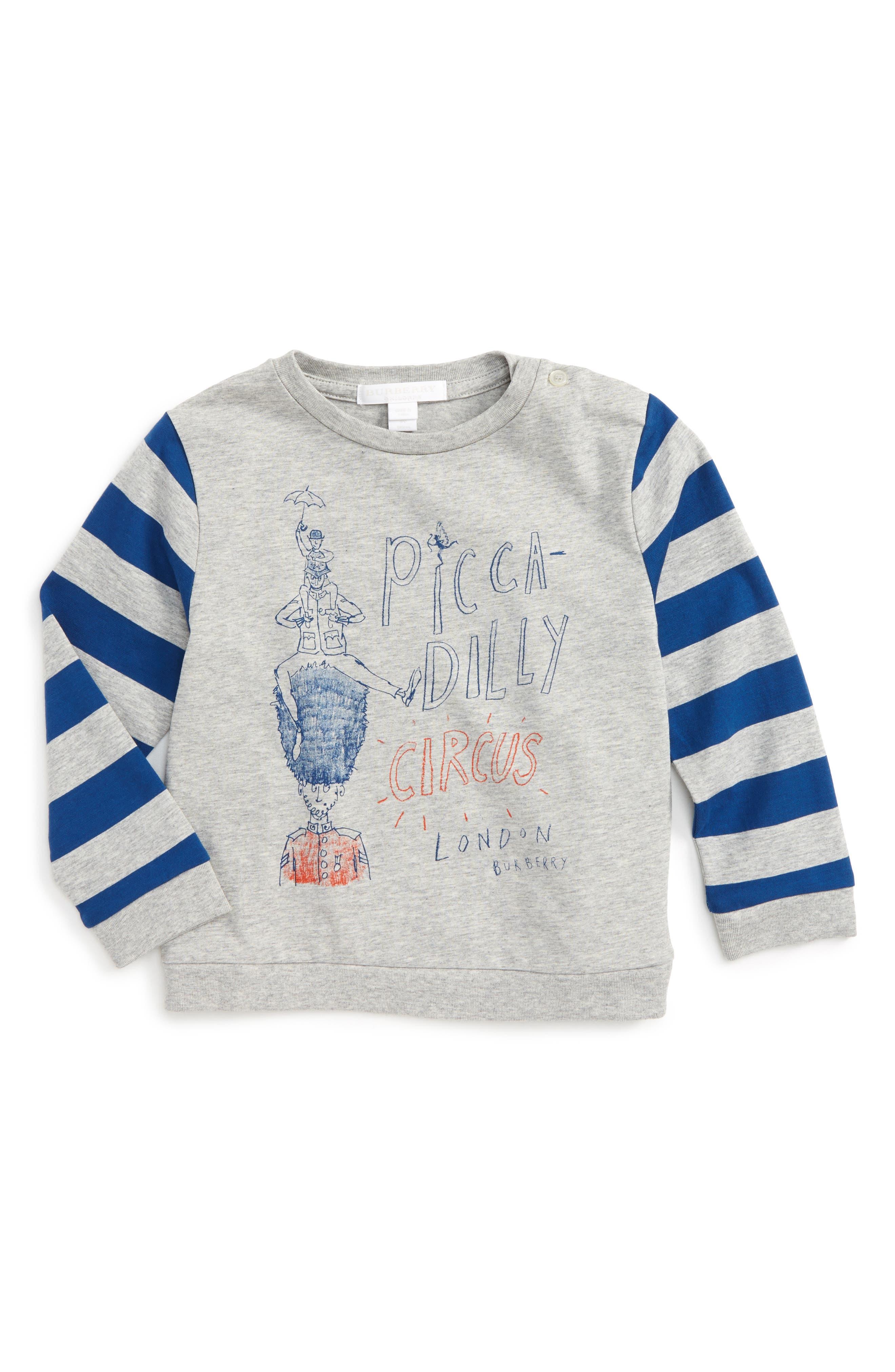 Oliver Graphic Sweatshirt,                             Main thumbnail 1, color,                             Navy/ Grey