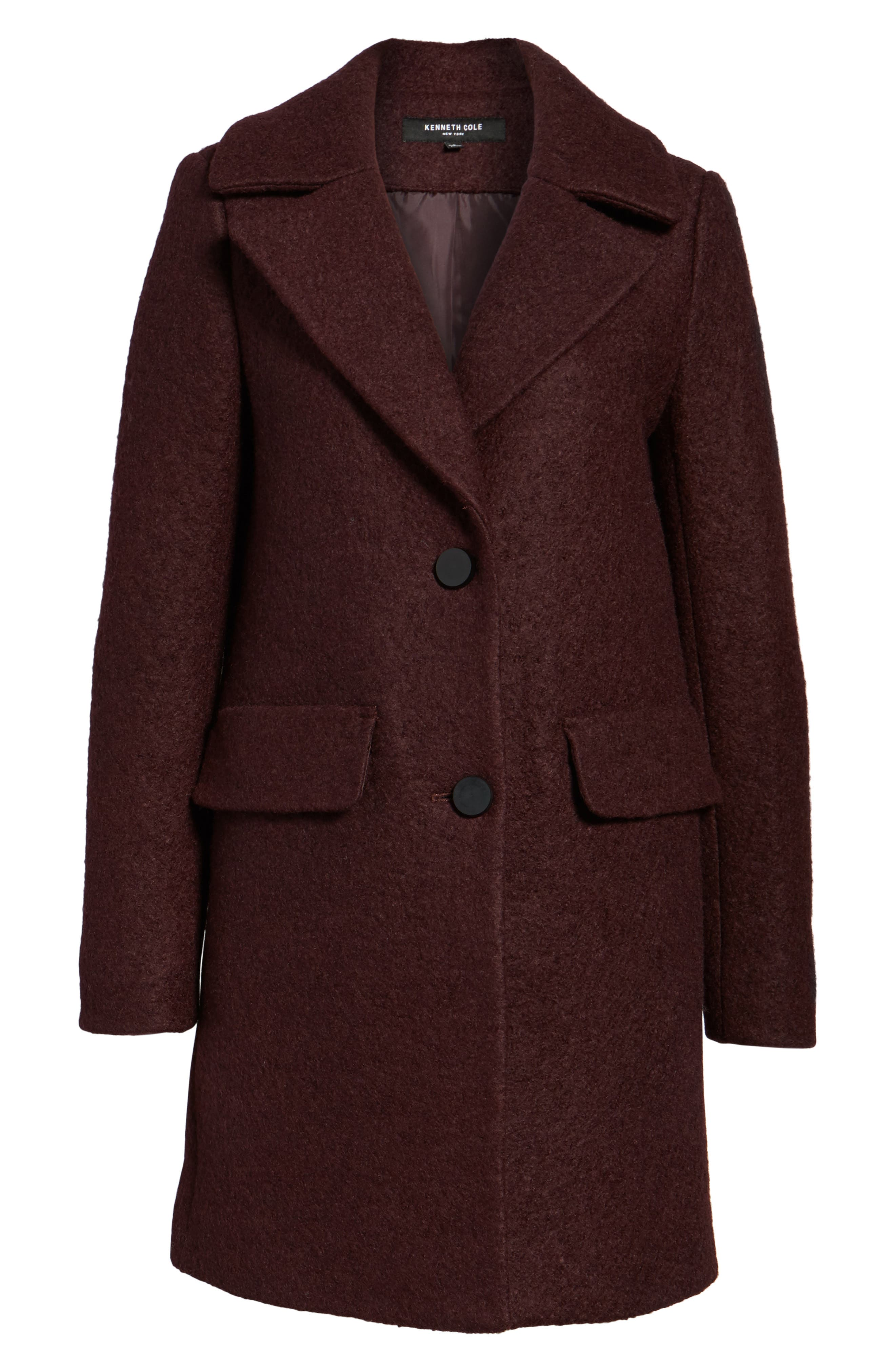 Alternate Image 6  - Kenneth Cole New York Wool Blend Bouclé Coat