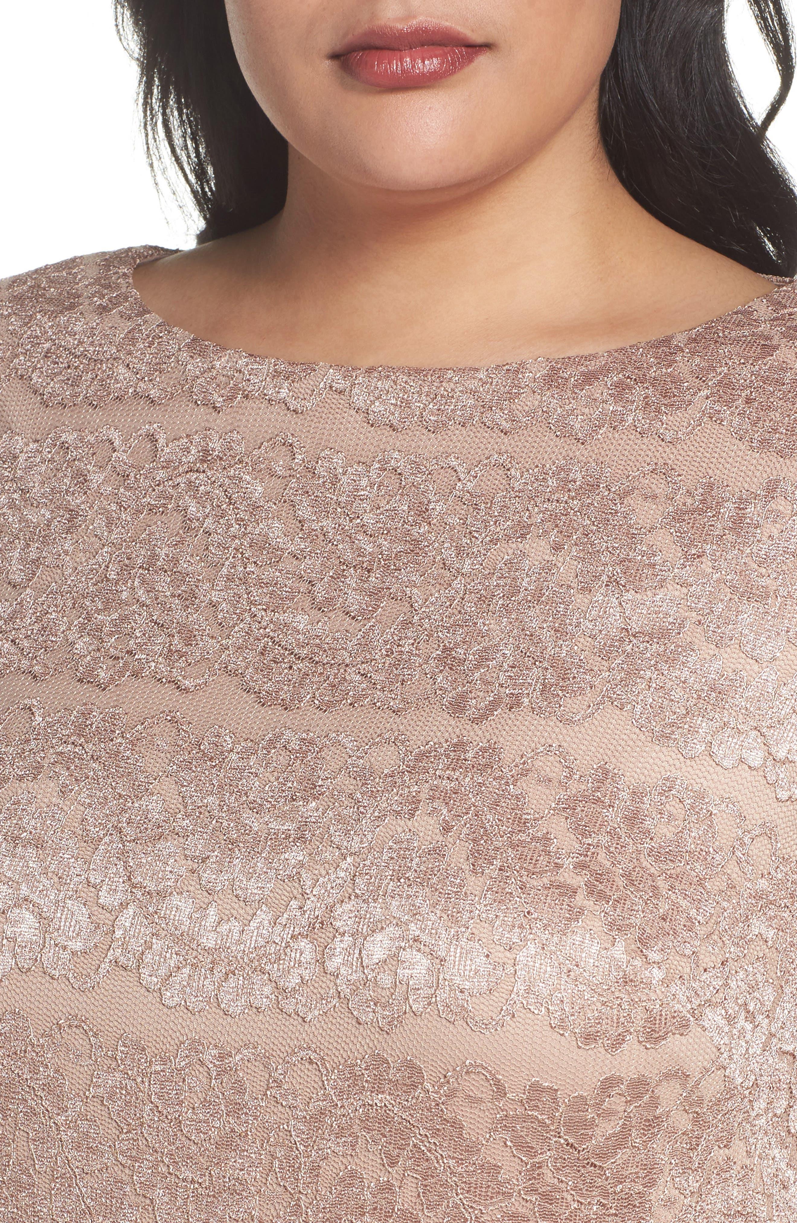 Alternate Image 4  - Eliza J Lace Shift Dress (Plus Size)