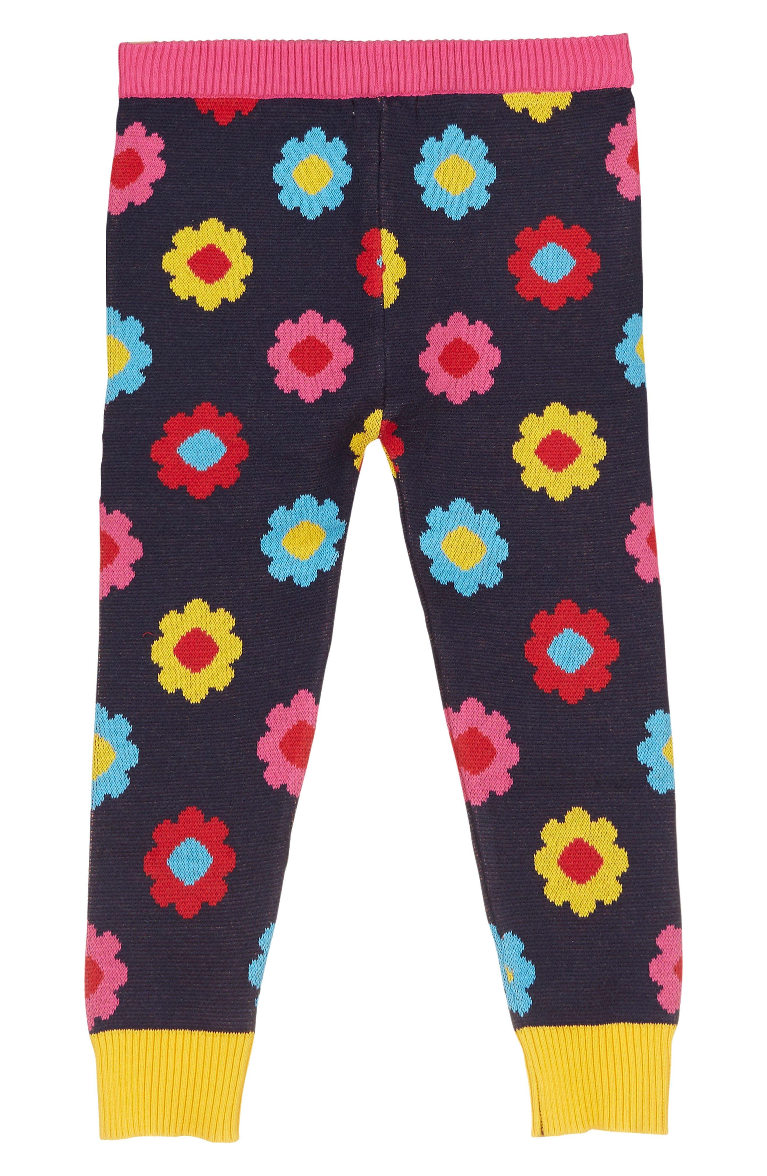 Print Knit Leggings,                             Main thumbnail 1, color,                             Black Multi