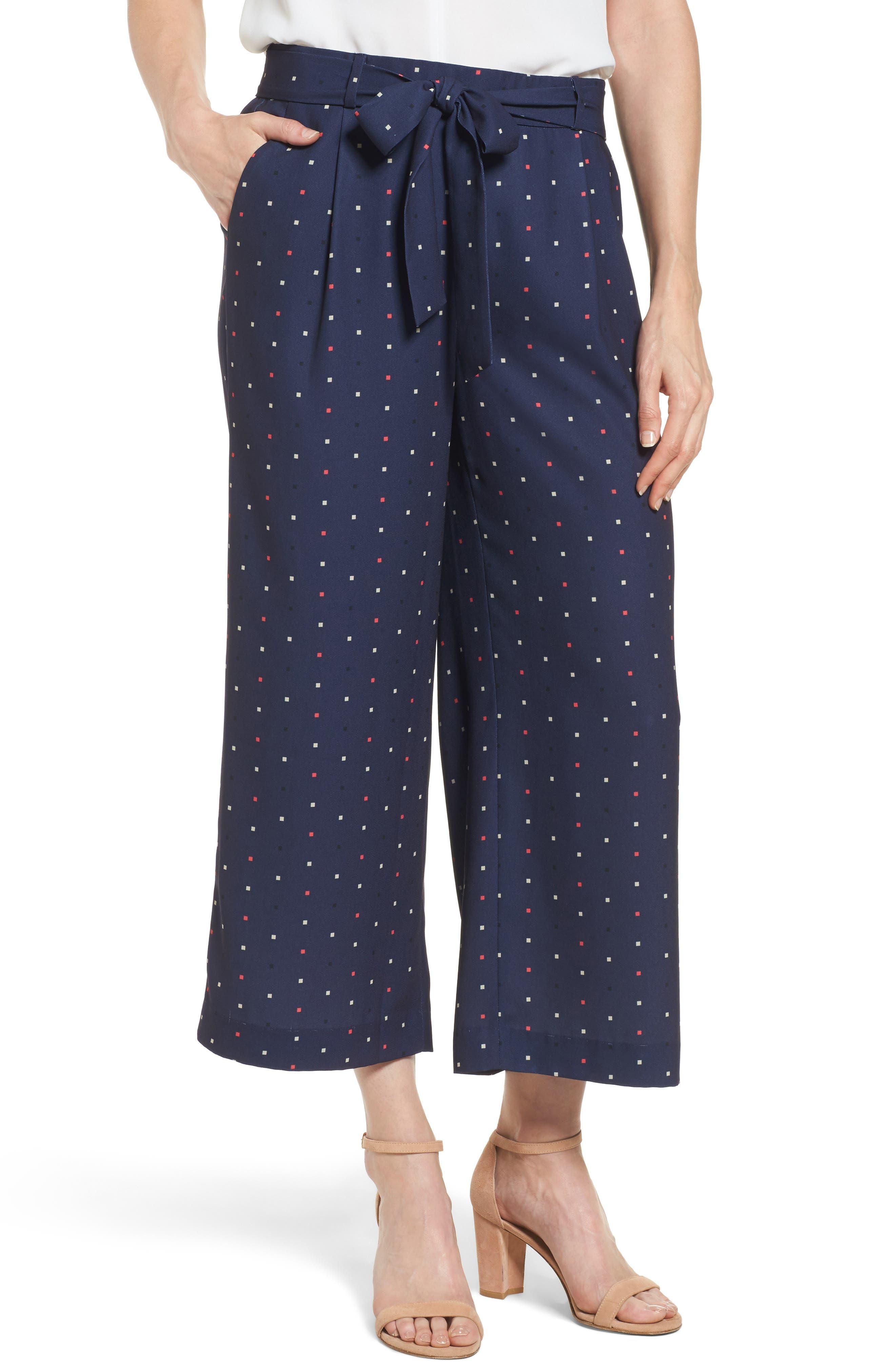 Alternate Image 1 Selected - Halogen® Wide Leg Crop Pants (Regular & Petite)