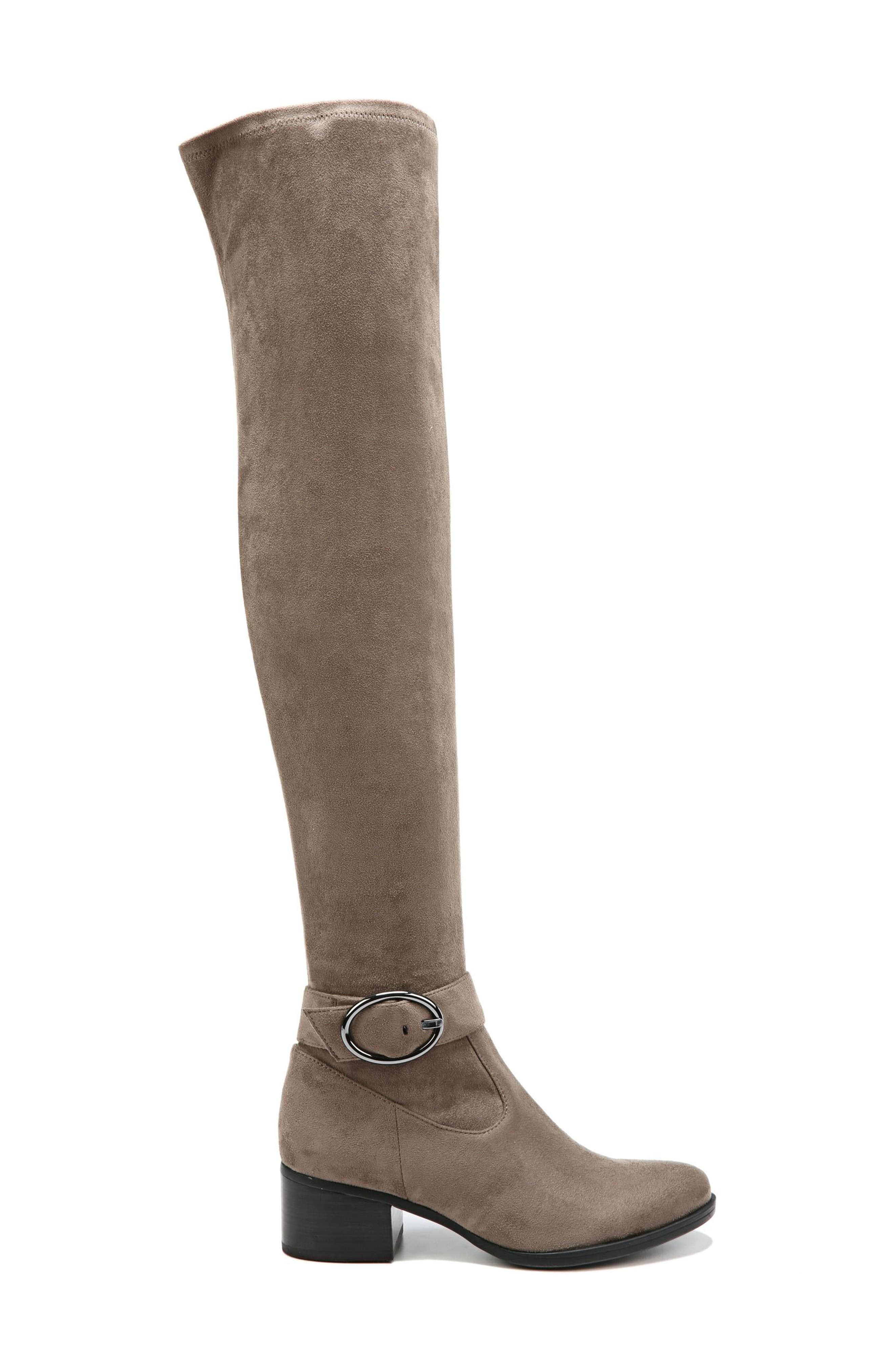 Dalyn Over the Knee Boot,                             Alternate thumbnail 3, color,                             Modern Grey Stretch Microfiber