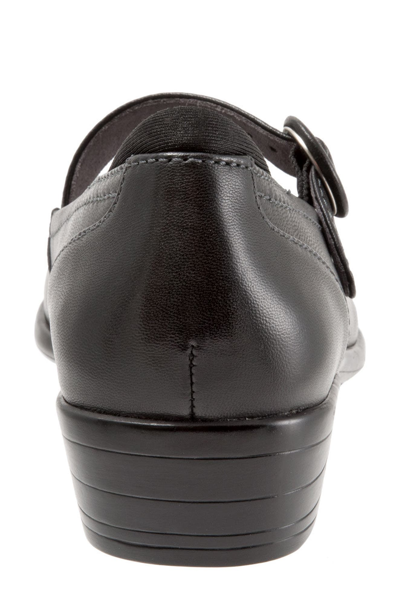 Chatsworth Mary Jane Pump,                             Alternate thumbnail 3, color,                             Black Leather