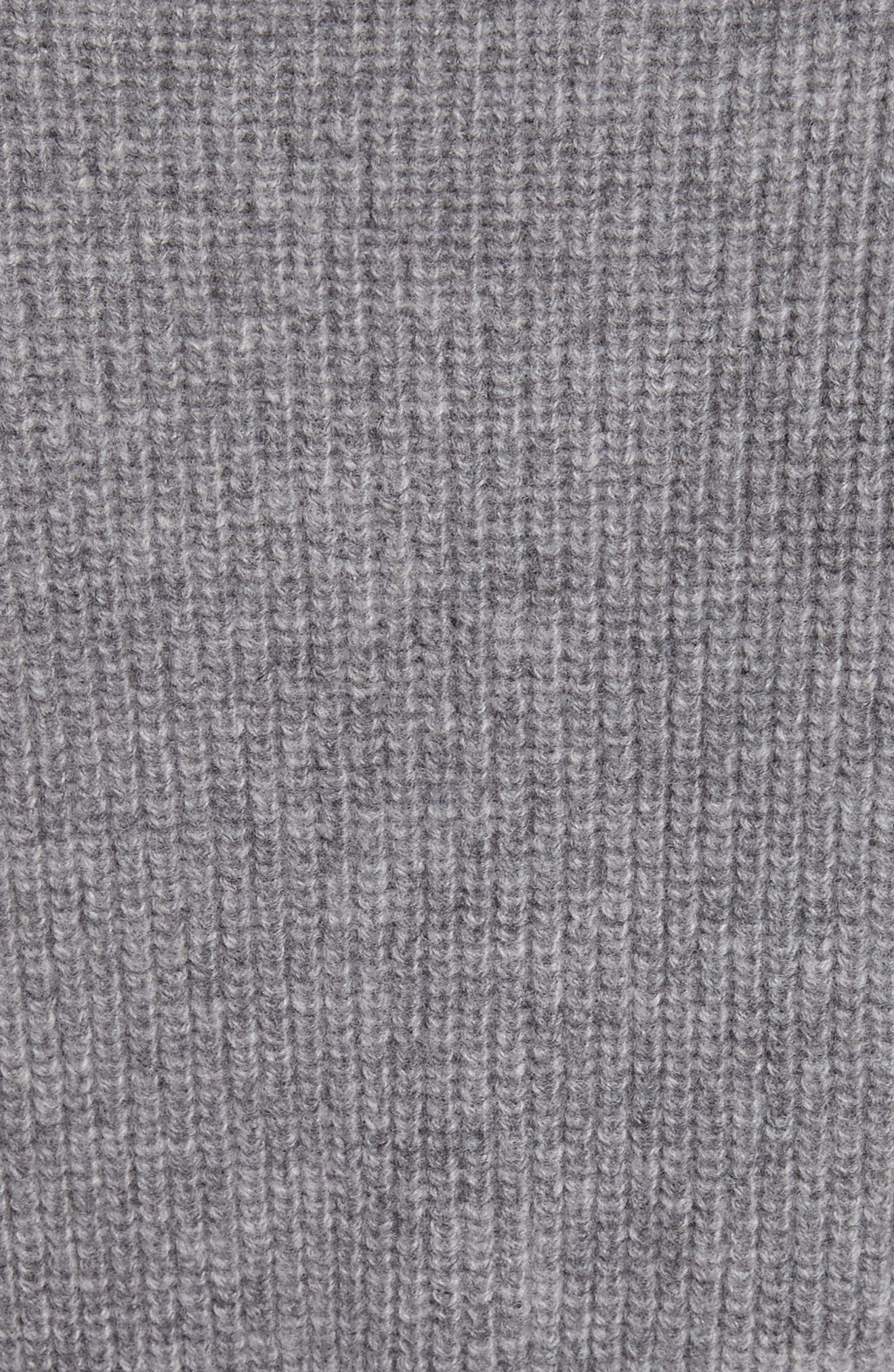 Belted Carded Wool Sweater,                             Alternate thumbnail 5, color,                             Ardesia