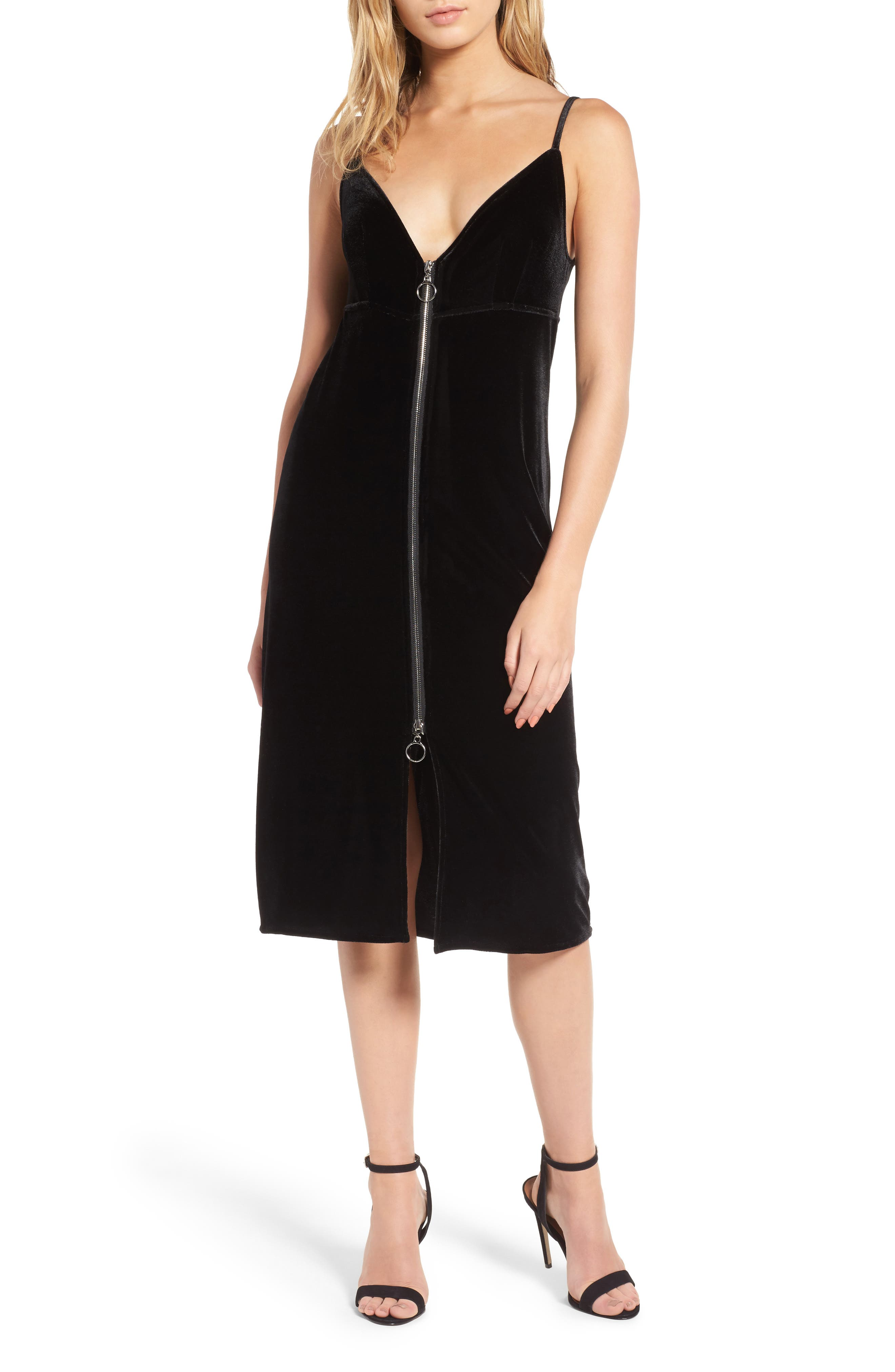 7 For All Mankind® Velvet Midi Slipdress