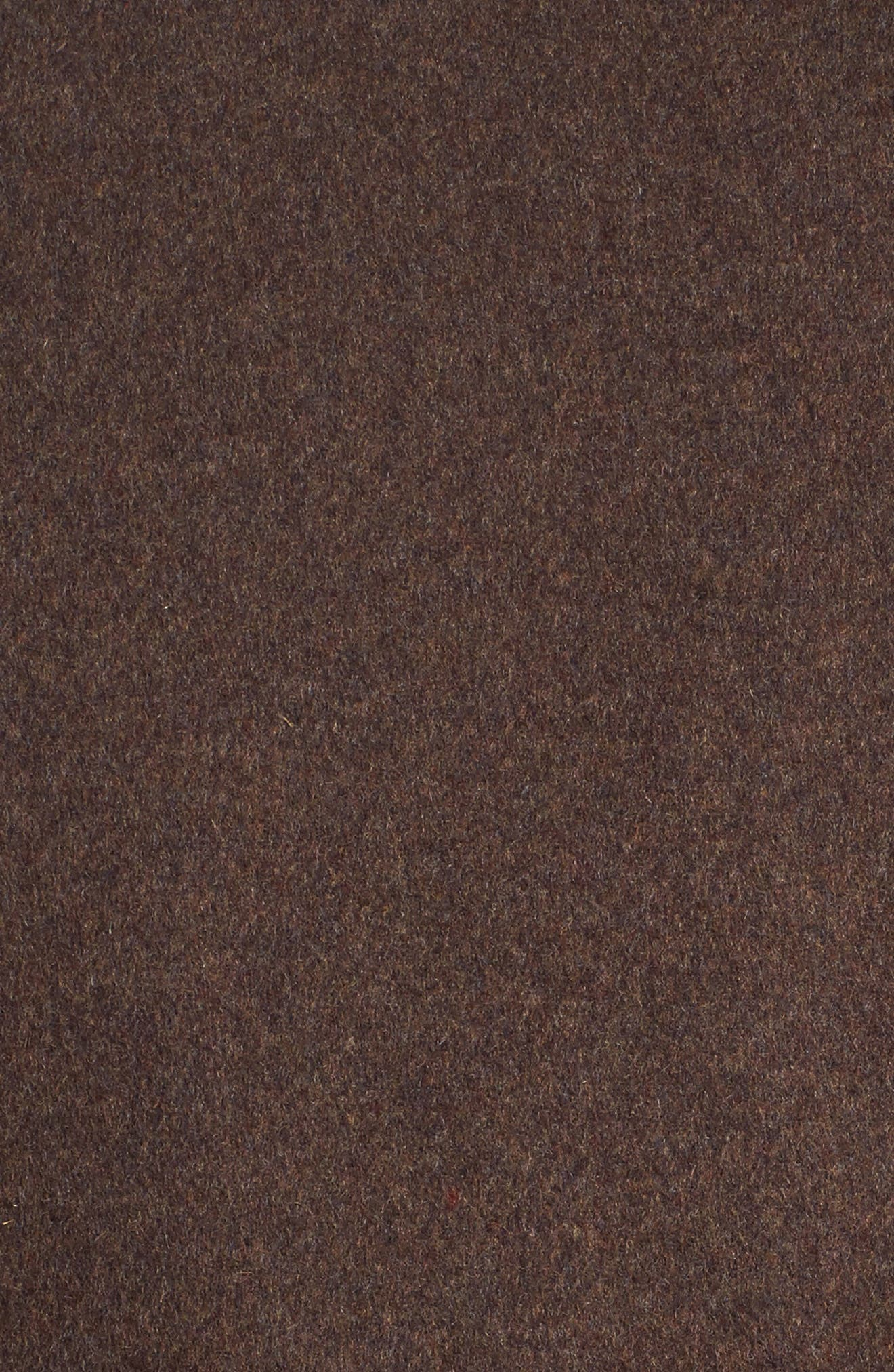 Wool Blend Peacoat,                             Alternate thumbnail 5, color,                             Medium Brown