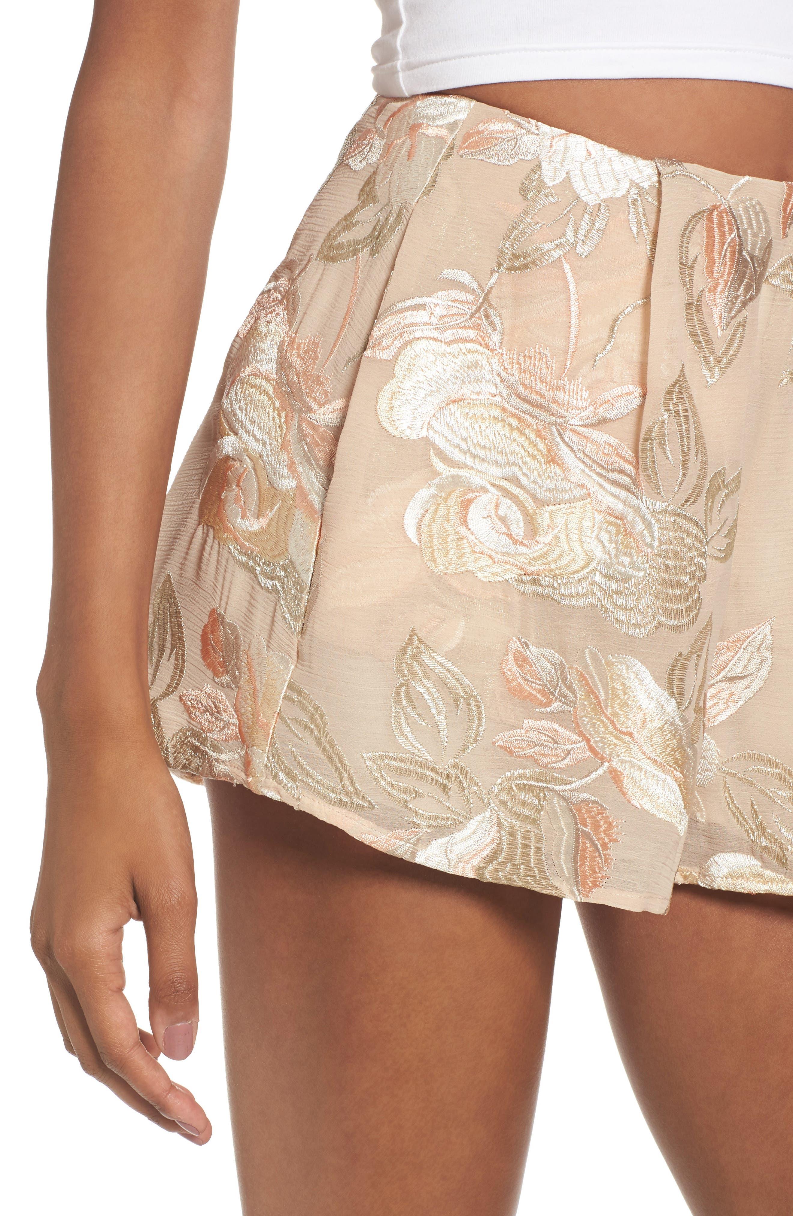 Sawyer High Waist Shorts,                             Alternate thumbnail 4, color,                             Very Fairy Floral