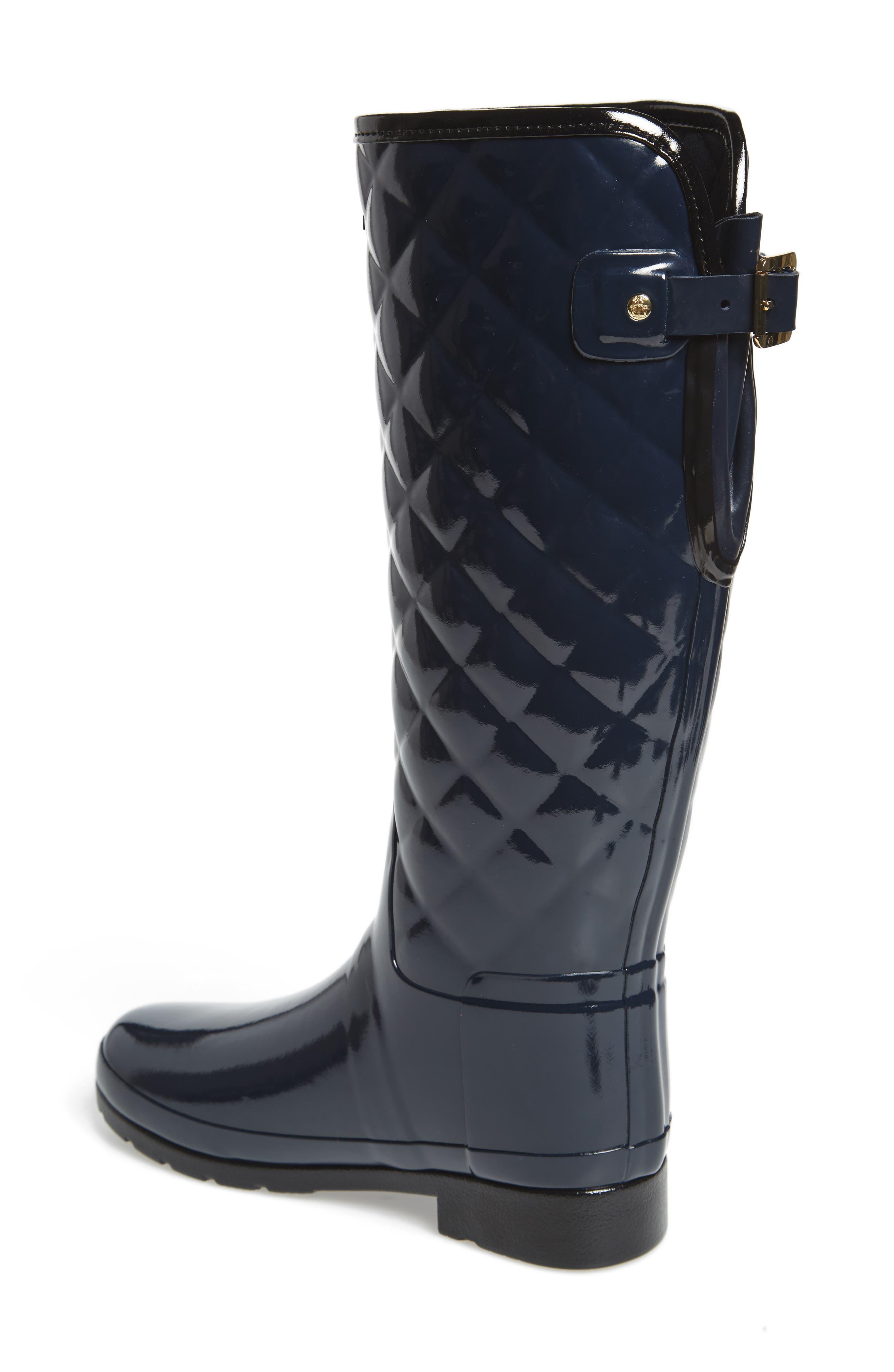 Alternate Image 2  - Hunter Original Refined High Gloss Quilted Rain Boot (Women)