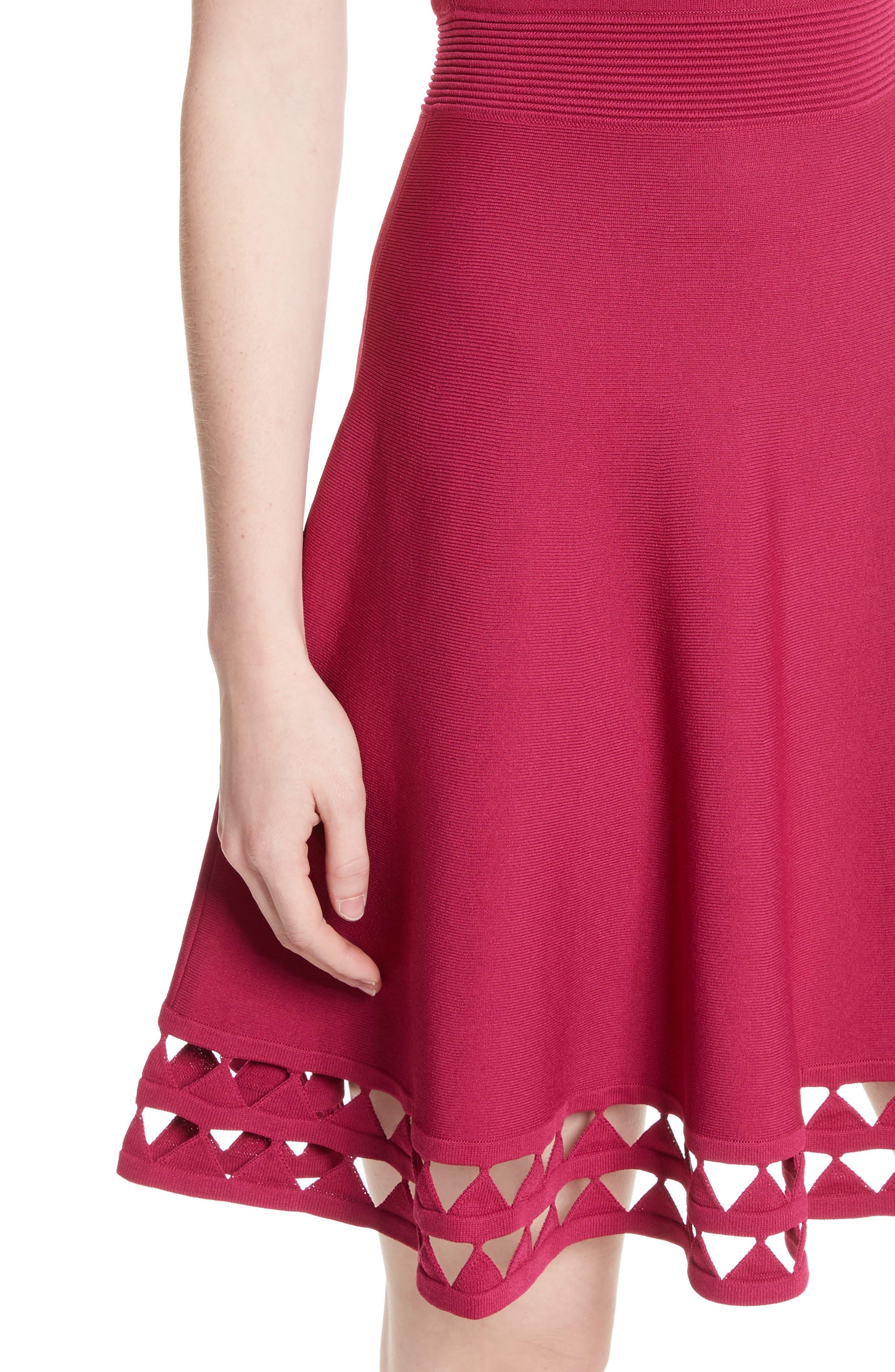 Alternate Image 4  - Ted Baker London Kathryn Cutwork Knit Skater Dress