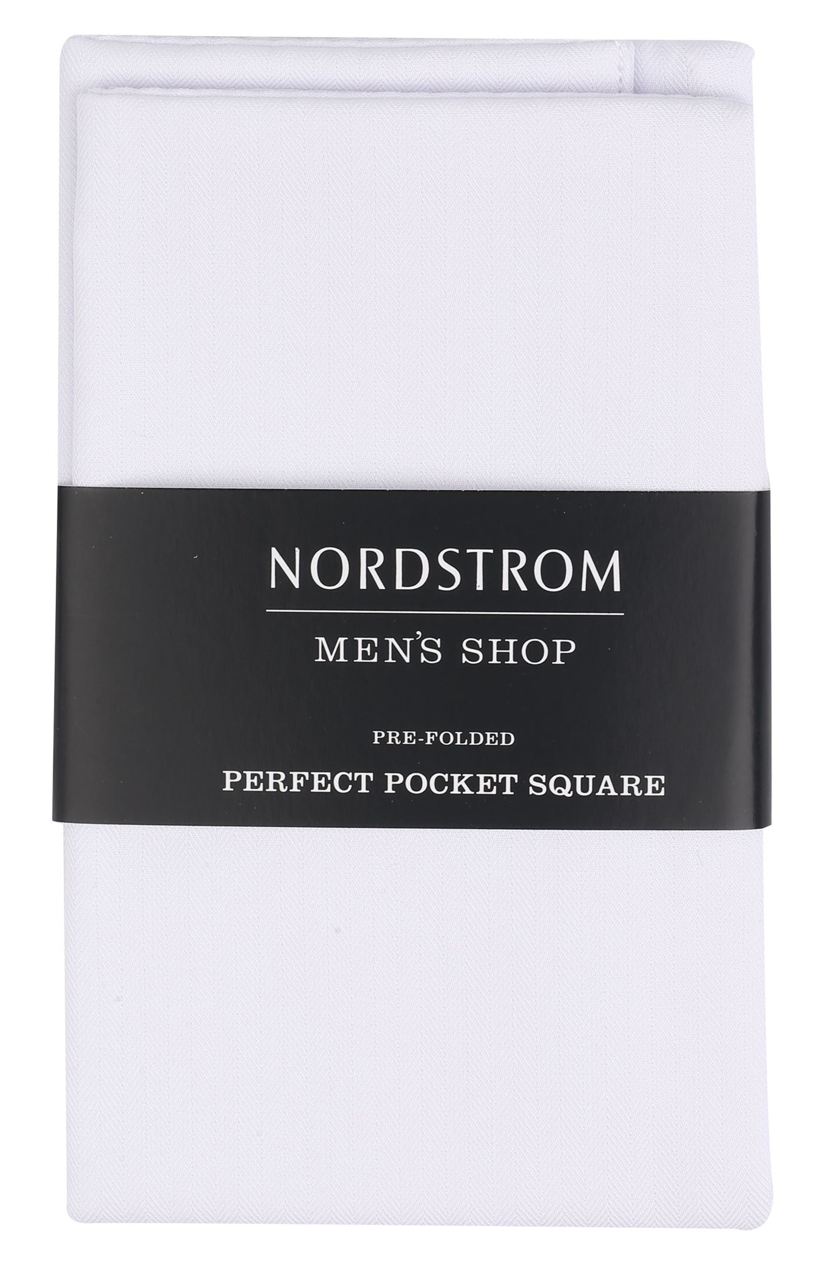 Nordstrom Men's Shop The Perfect Pre-Folded Pocket Square (3 for $49)