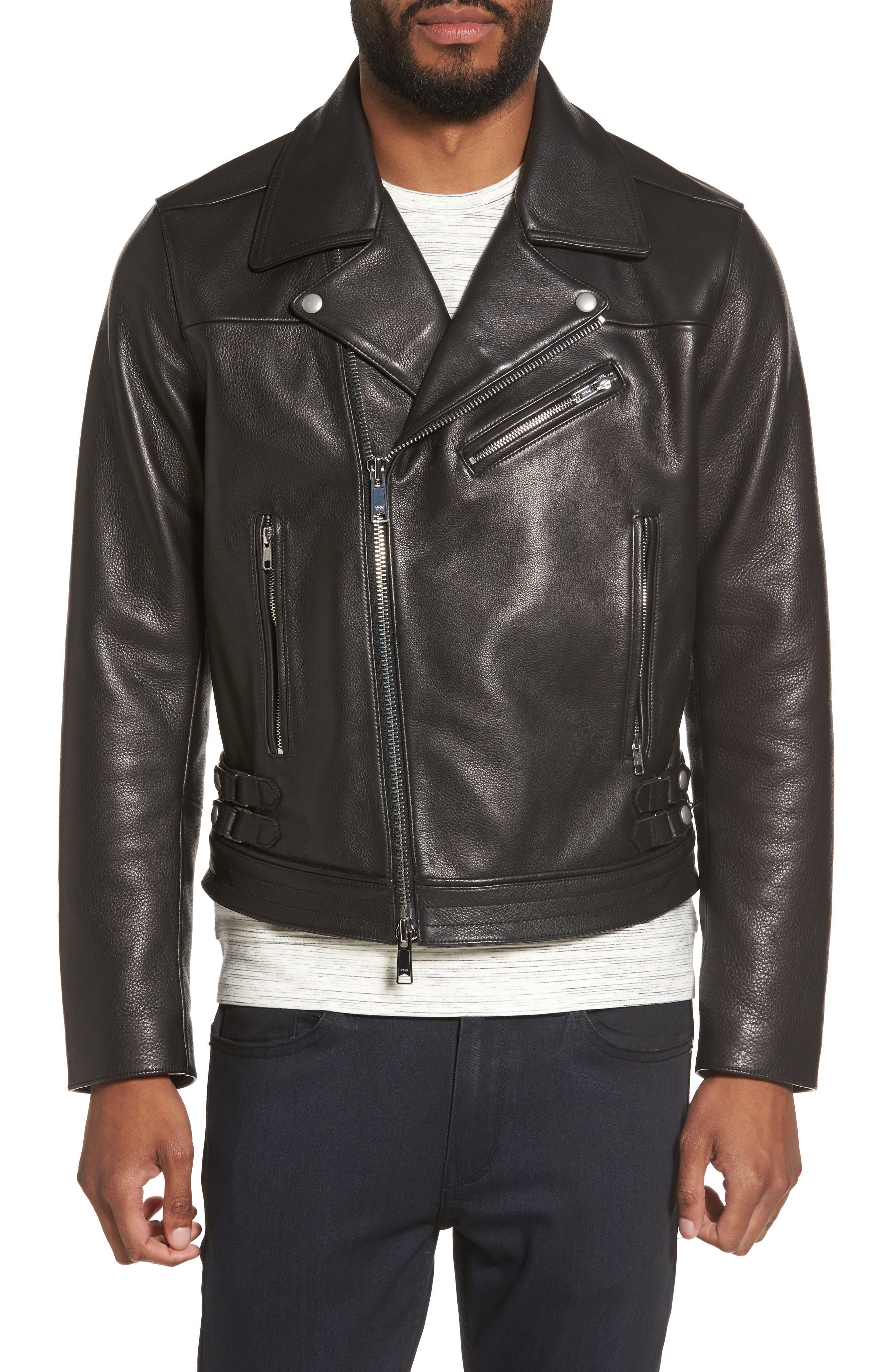 Main Image - Calibrate Leather Moto Jacket