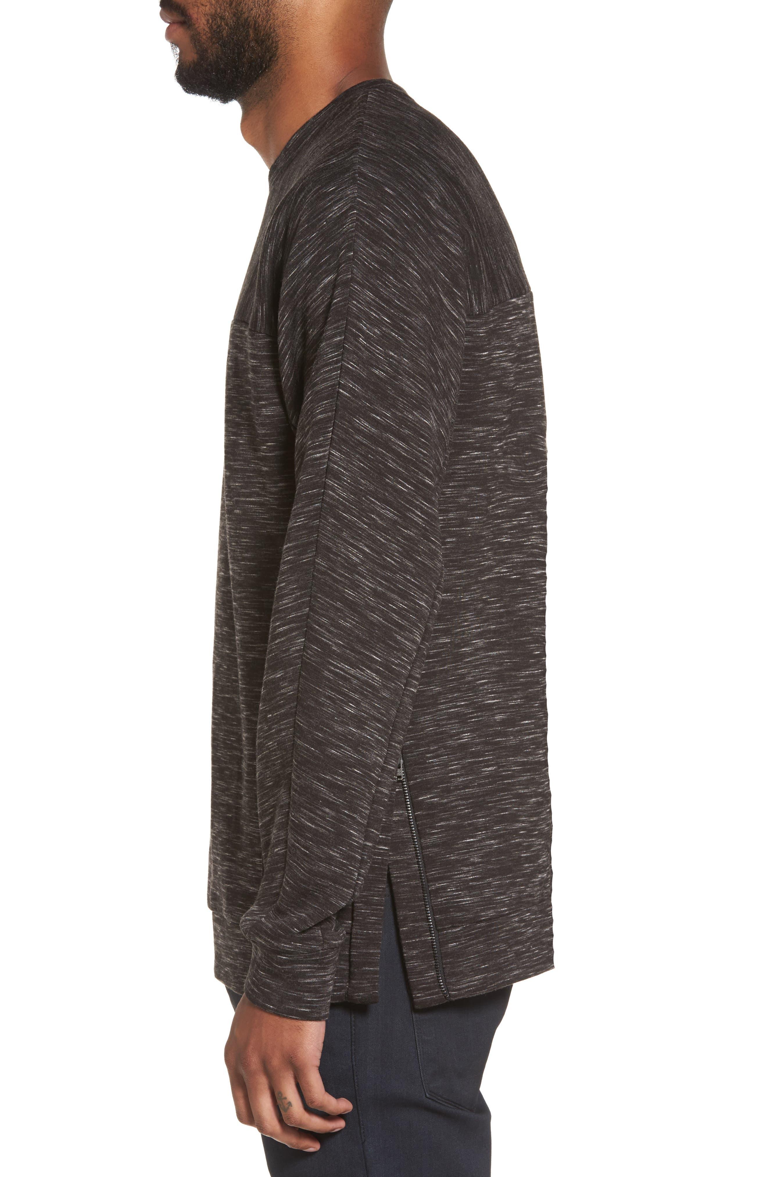 Alternate Image 3  - Calibrate Side Zip Crewneck Sweatshirt