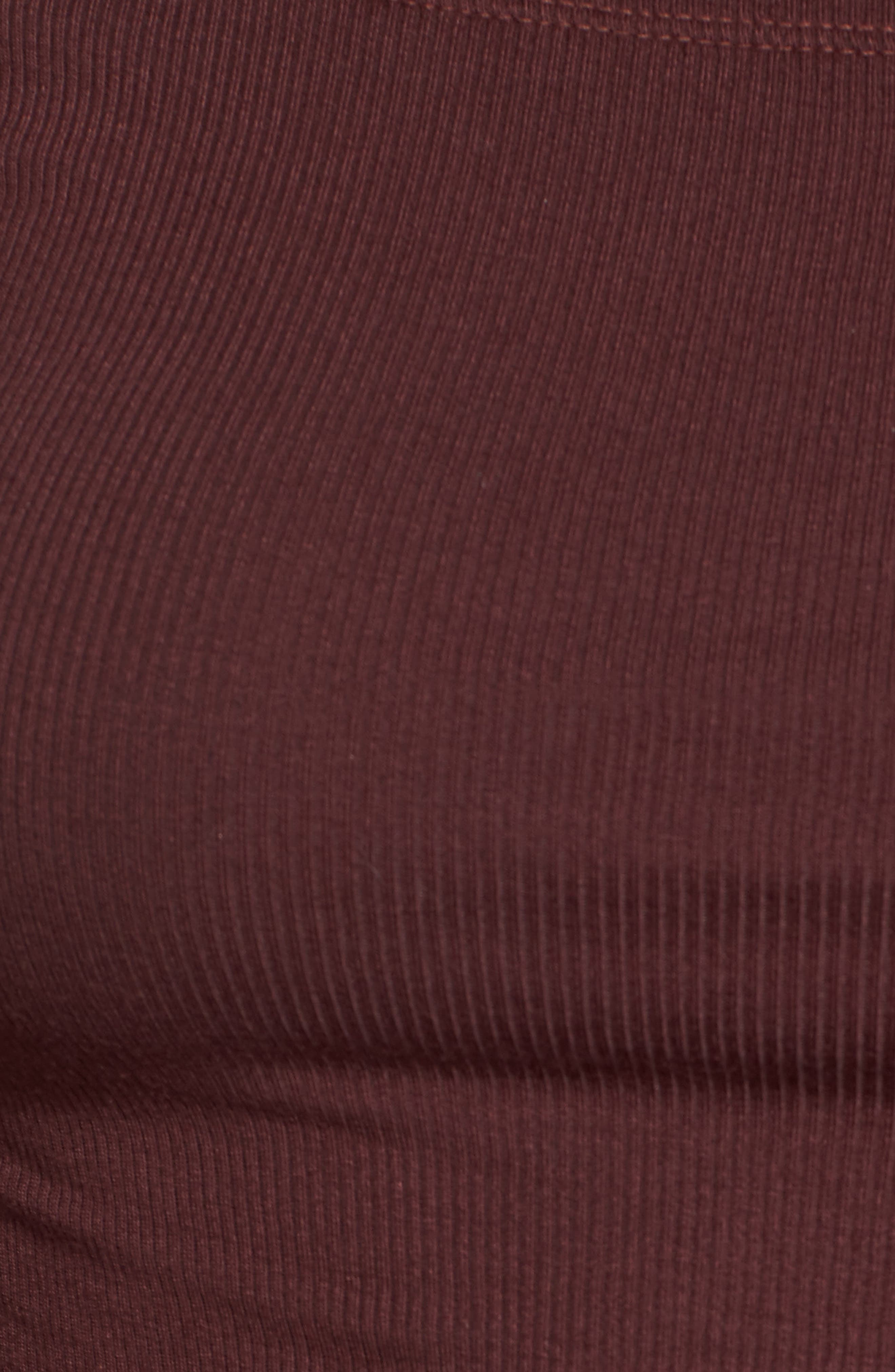 Emery Cutout Tee,                             Alternate thumbnail 5, color,                             Merlot Red