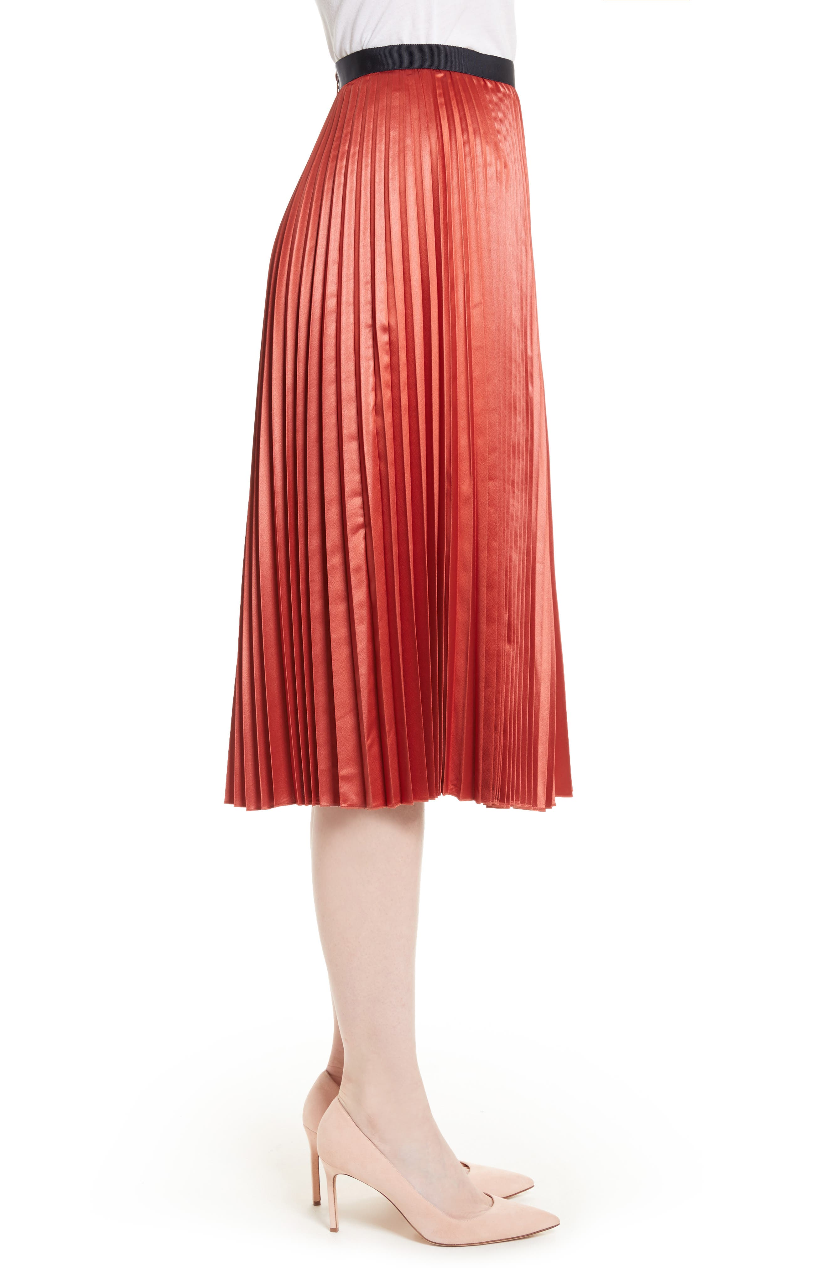 Alternate Image 3  - Ted Baker London Osla Colorblock Pleated Midi Skirt