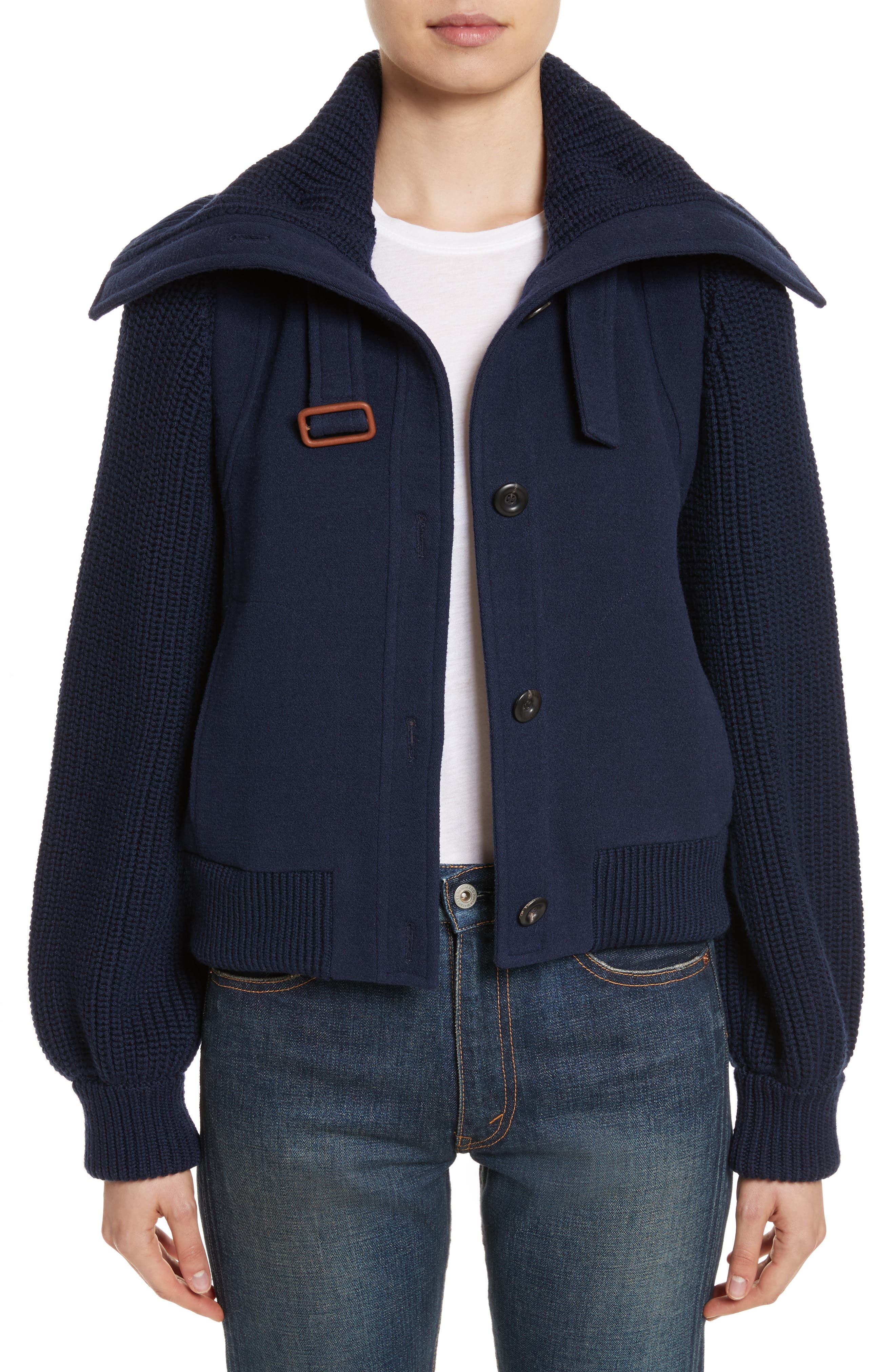Chloé Brushed Stretch Wool Coat