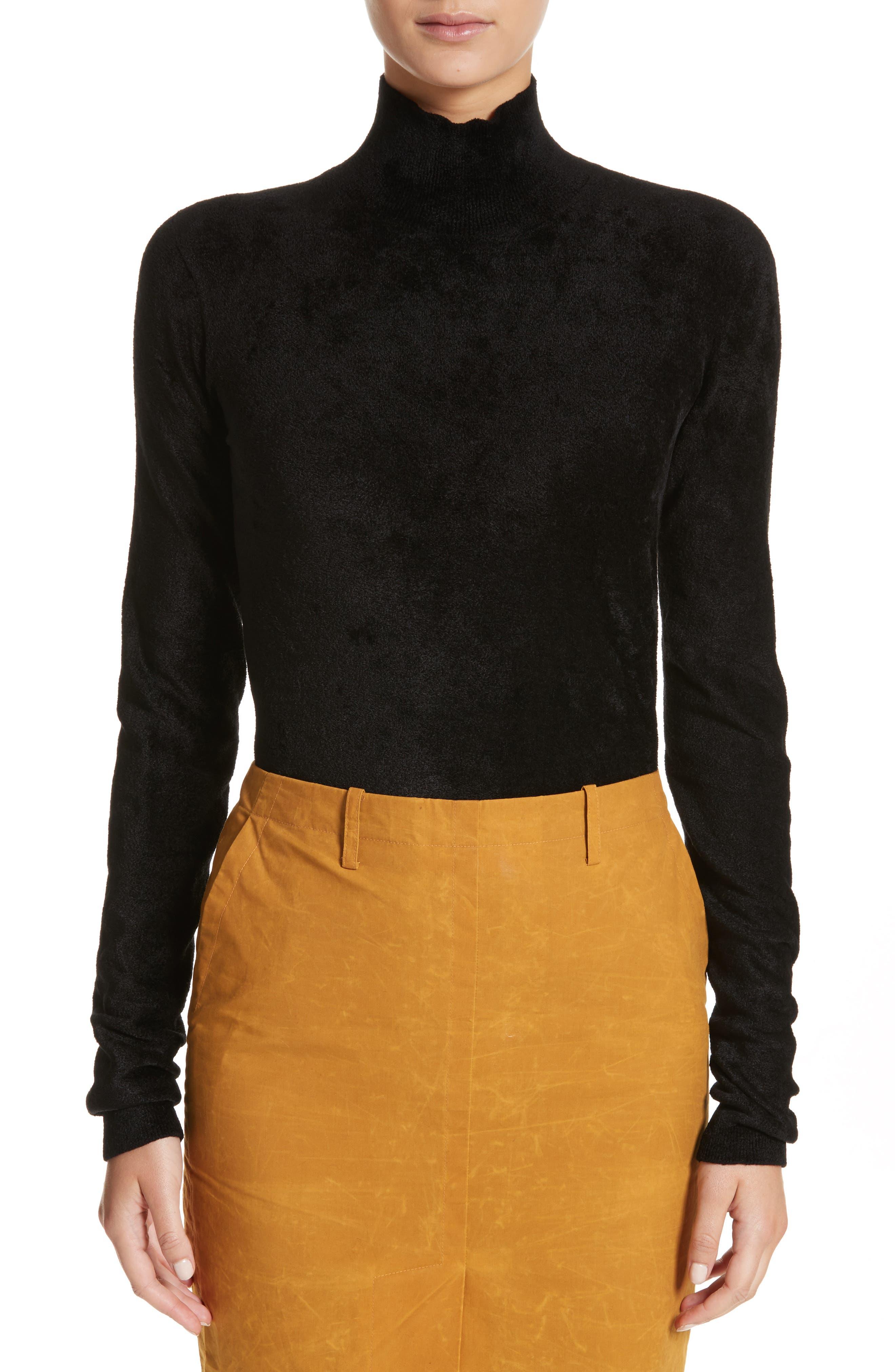 Chenille Turtleneck Sweater,                             Main thumbnail 1, color,                             00N99 Black