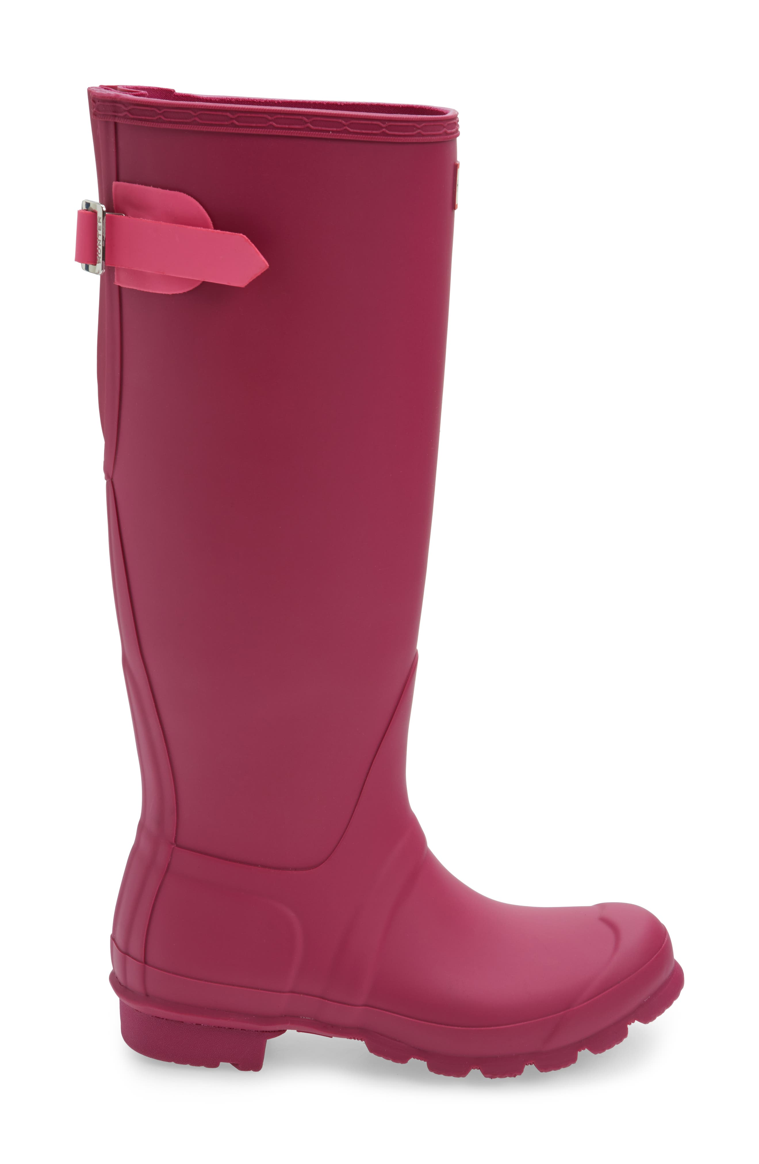 Adjustable Calf Rain Boot,                             Alternate thumbnail 3, color,                             Dark Ion Pink/ Ion Pink