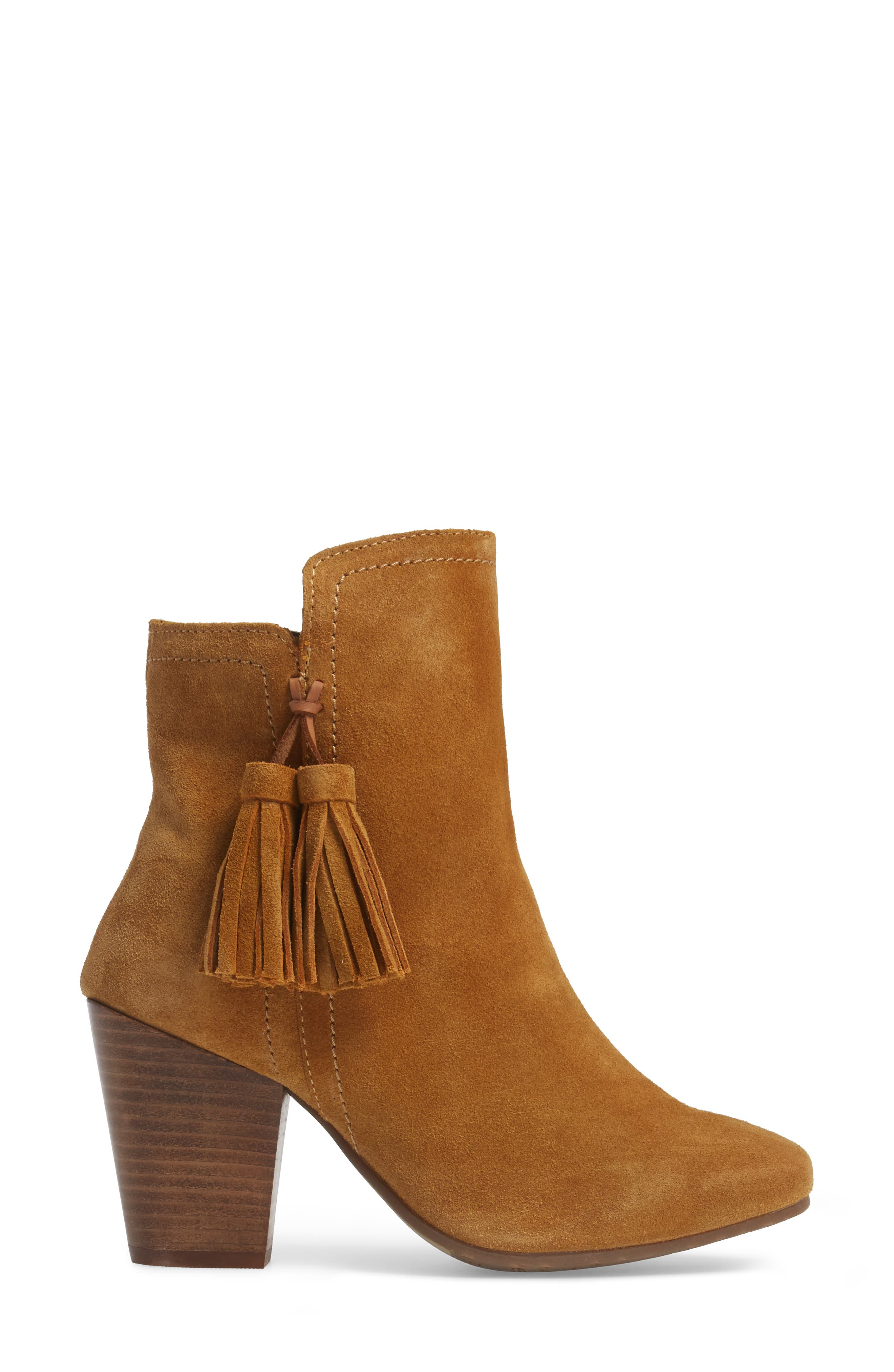 Daisee Billie Bootie,                             Alternate thumbnail 3, color,                             Camel Suede