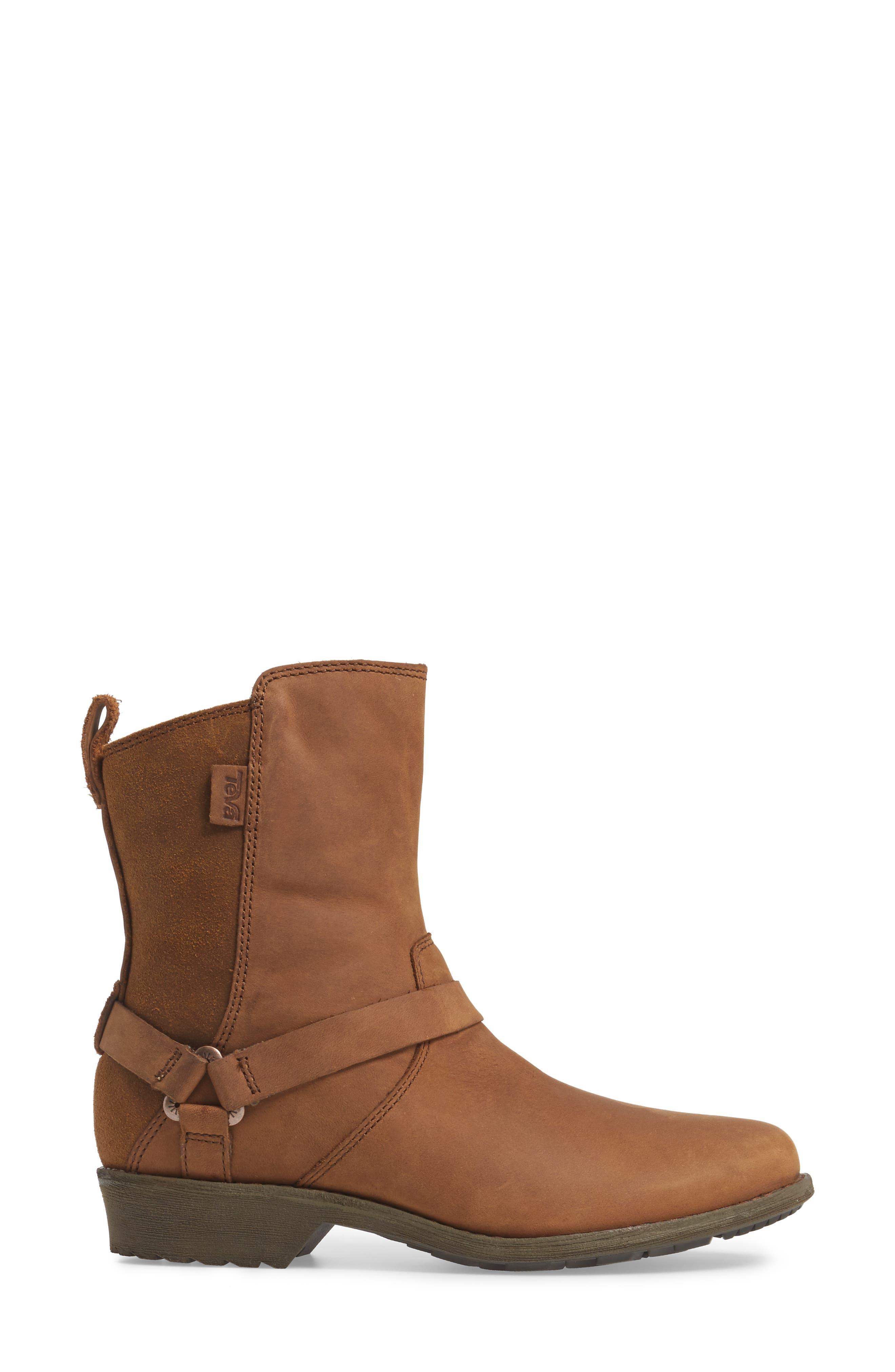 Dina La Vina Dos Waterproof Boot,                             Alternate thumbnail 3, color,                             Bison Leather