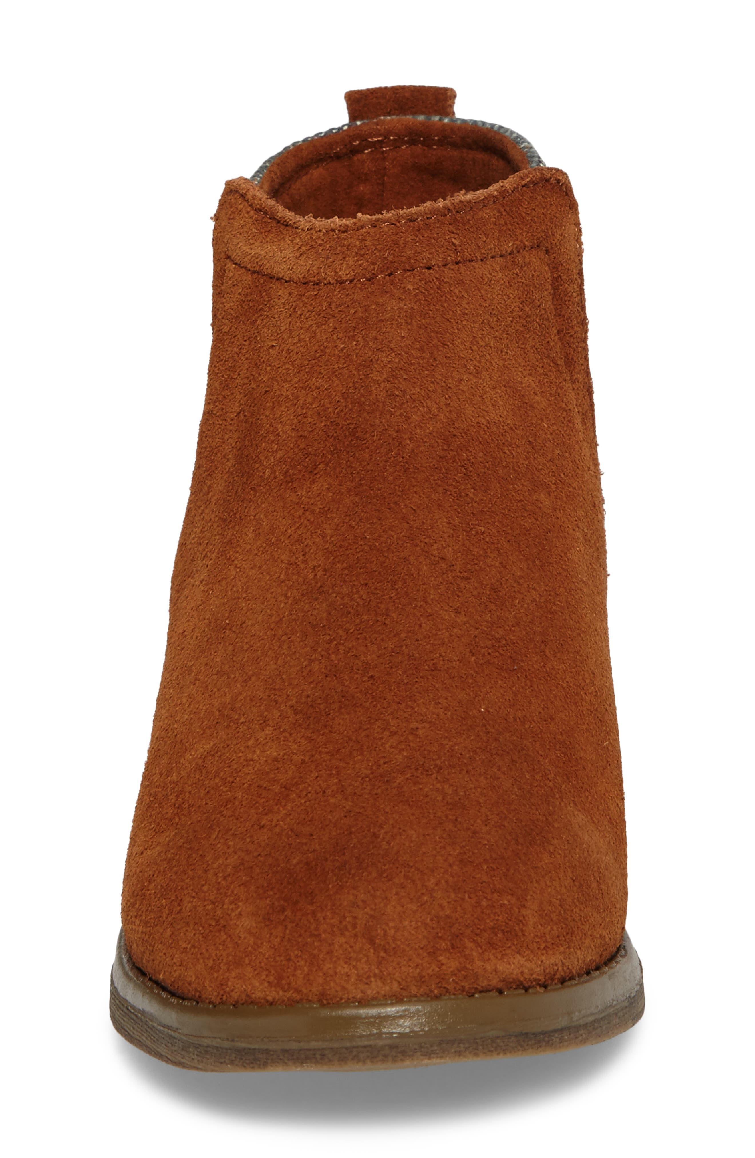 Deia Mixed Media Bootie,                             Alternate thumbnail 4, color,                             Cinnamon Suede