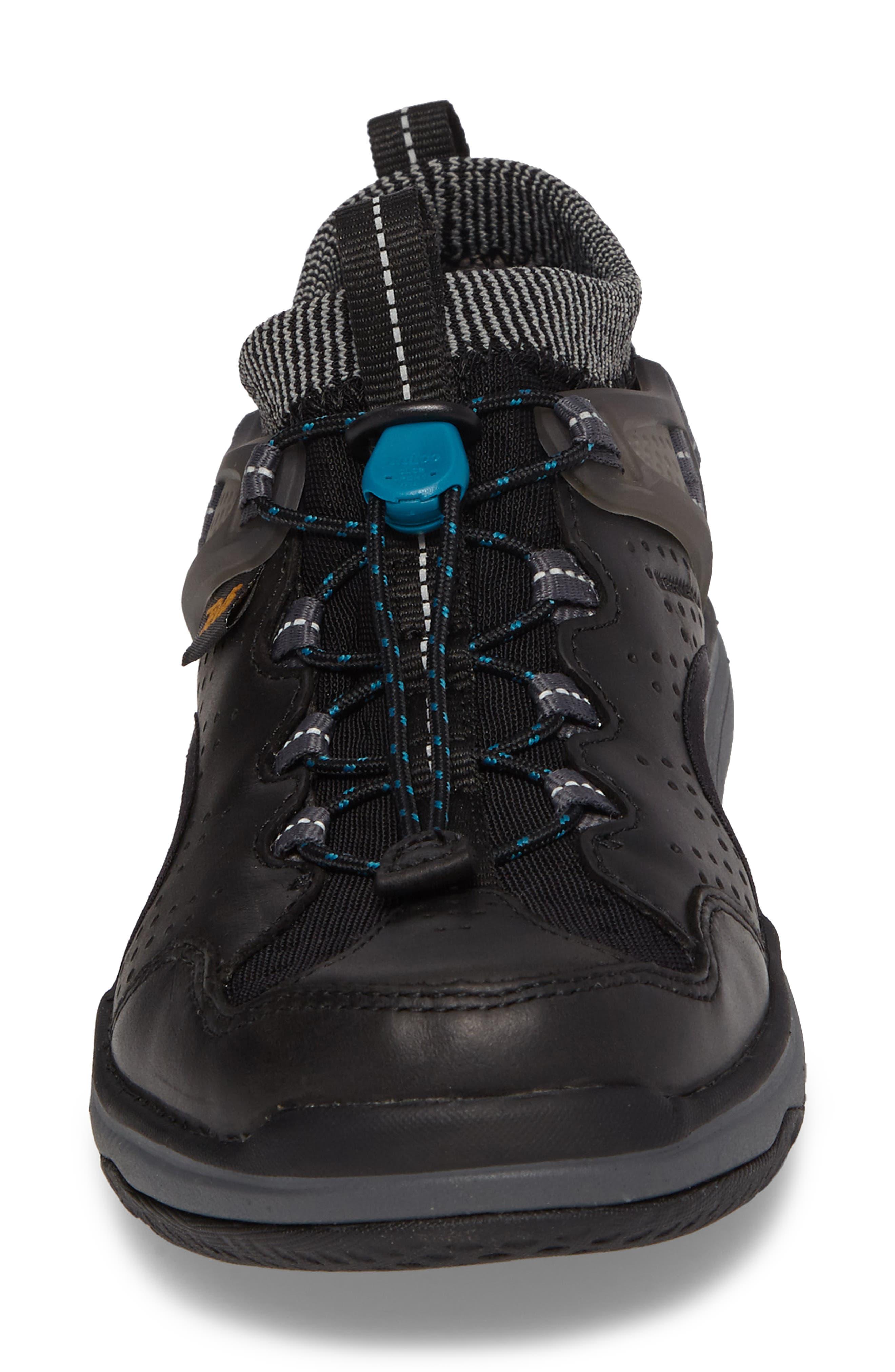 Terra Float Travel Sandal,                             Alternate thumbnail 4, color,                             Black Leather