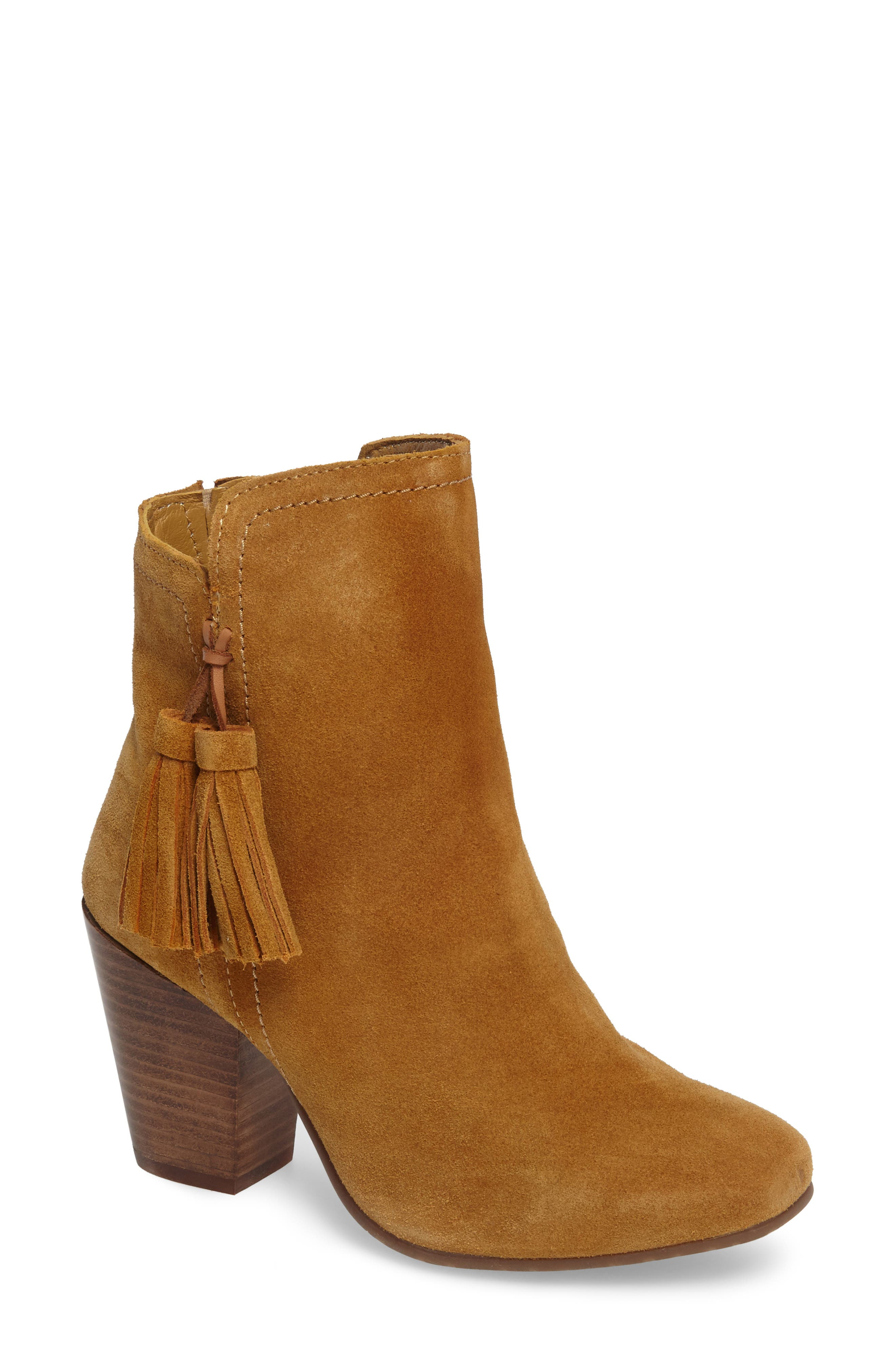 Daisee Billie Bootie,                         Main,                         color, Camel Suede