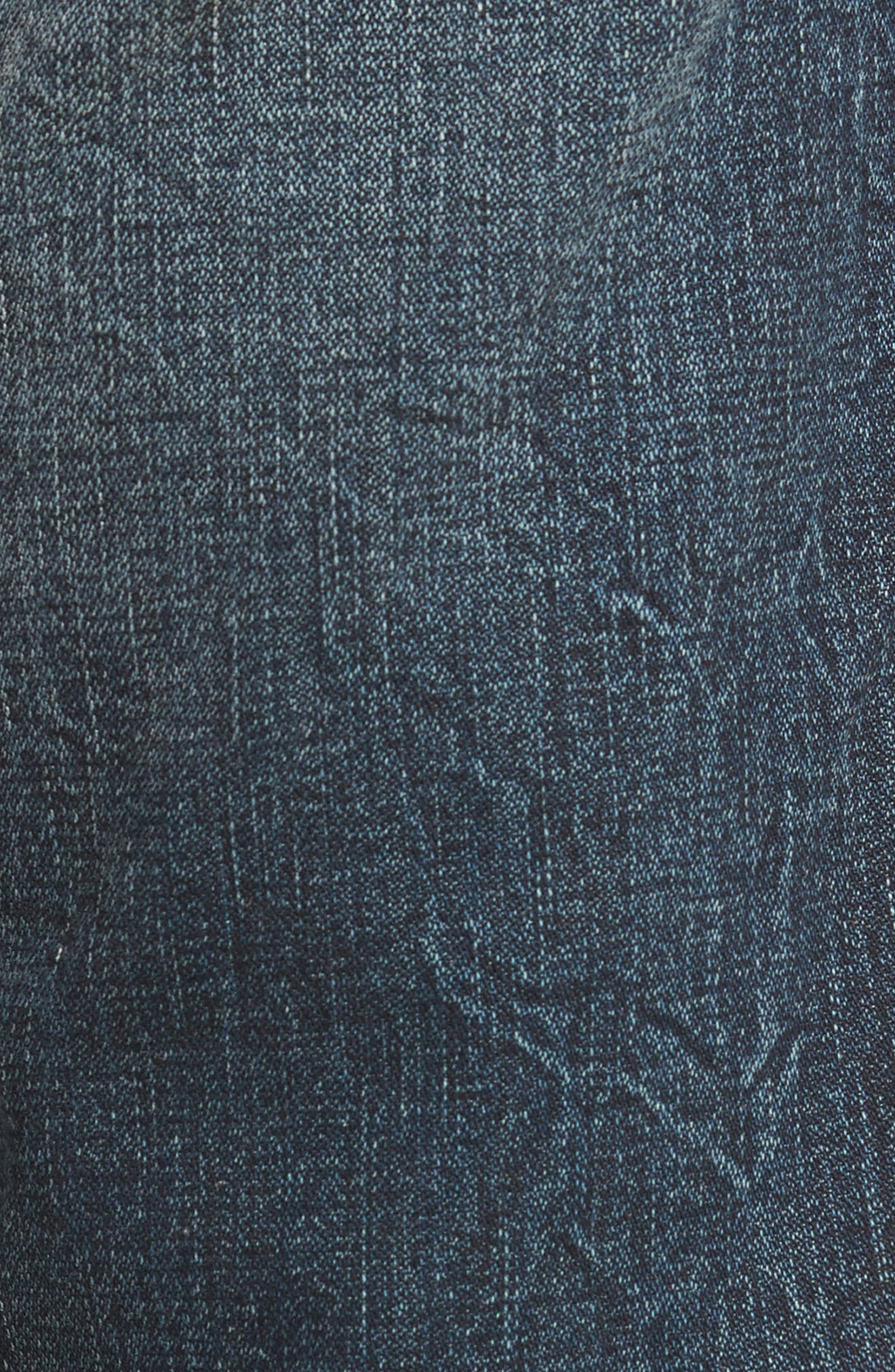 Geno Straight Fit Jeans,                             Alternate thumbnail 5, color,                             Patched Rider