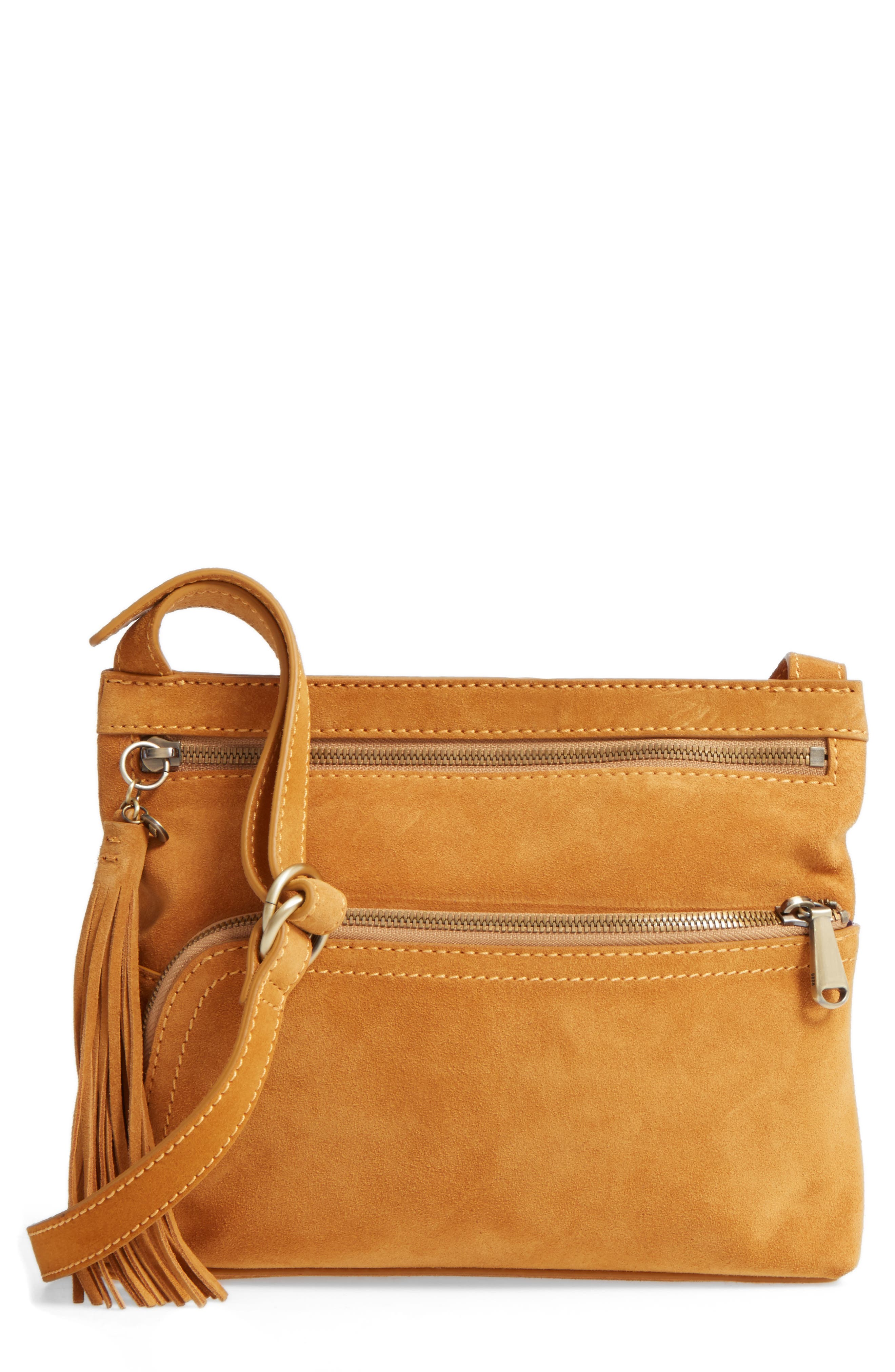 Main Image - Hobo Cassie Calfskin Suede Crossbody Bag