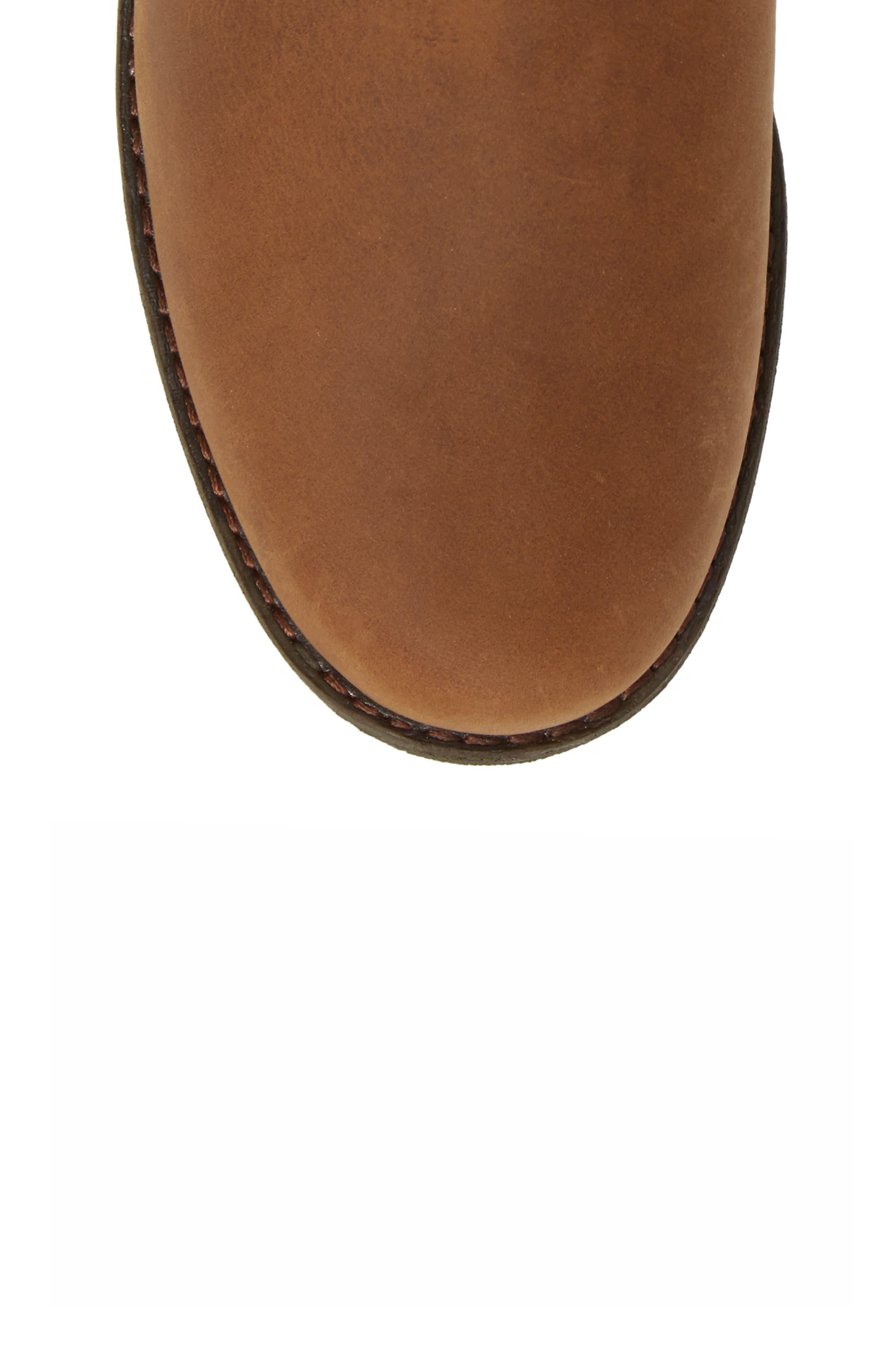 Dina La Vina Dos Waterproof Boot,                             Alternate thumbnail 5, color,                             Bison Leather