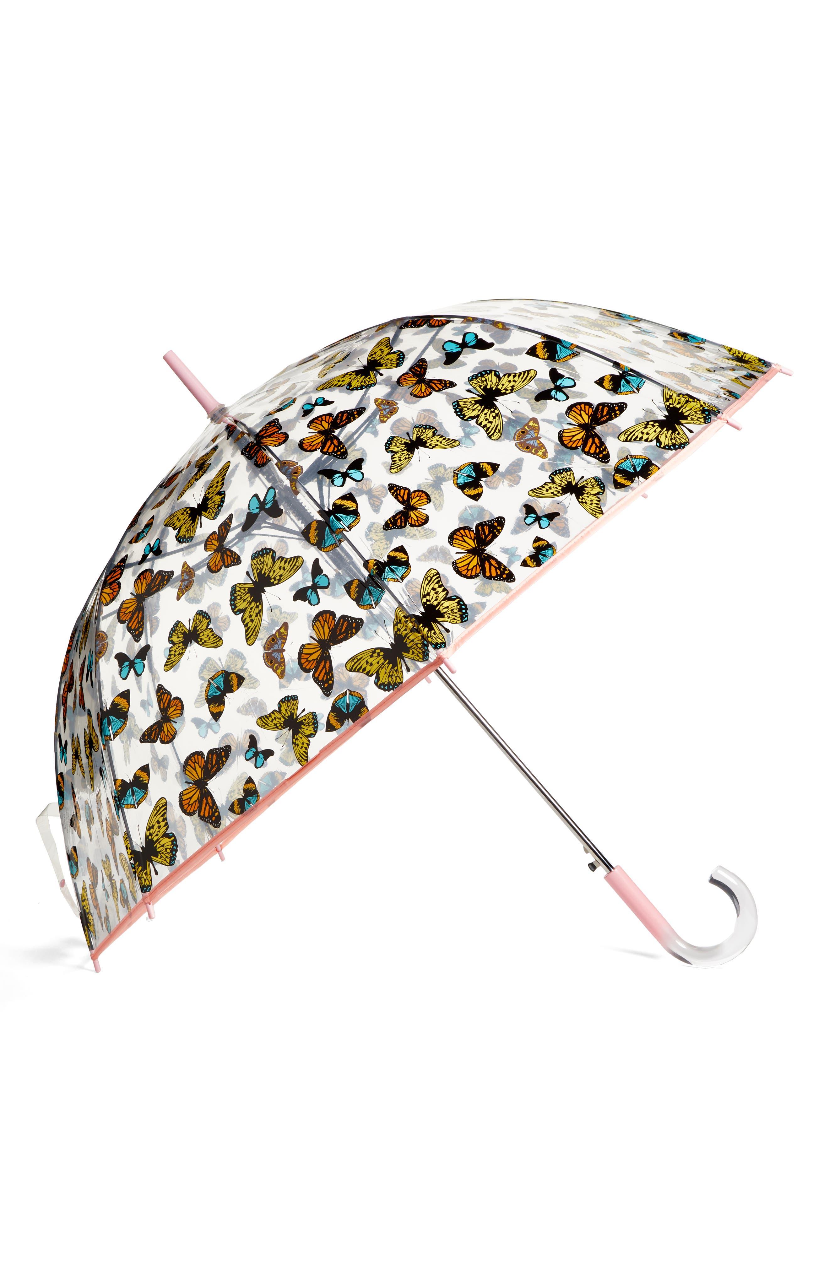 'The Bubble' Auto Open Stick Umbrella,                         Main,                         color, Nord Butterfly