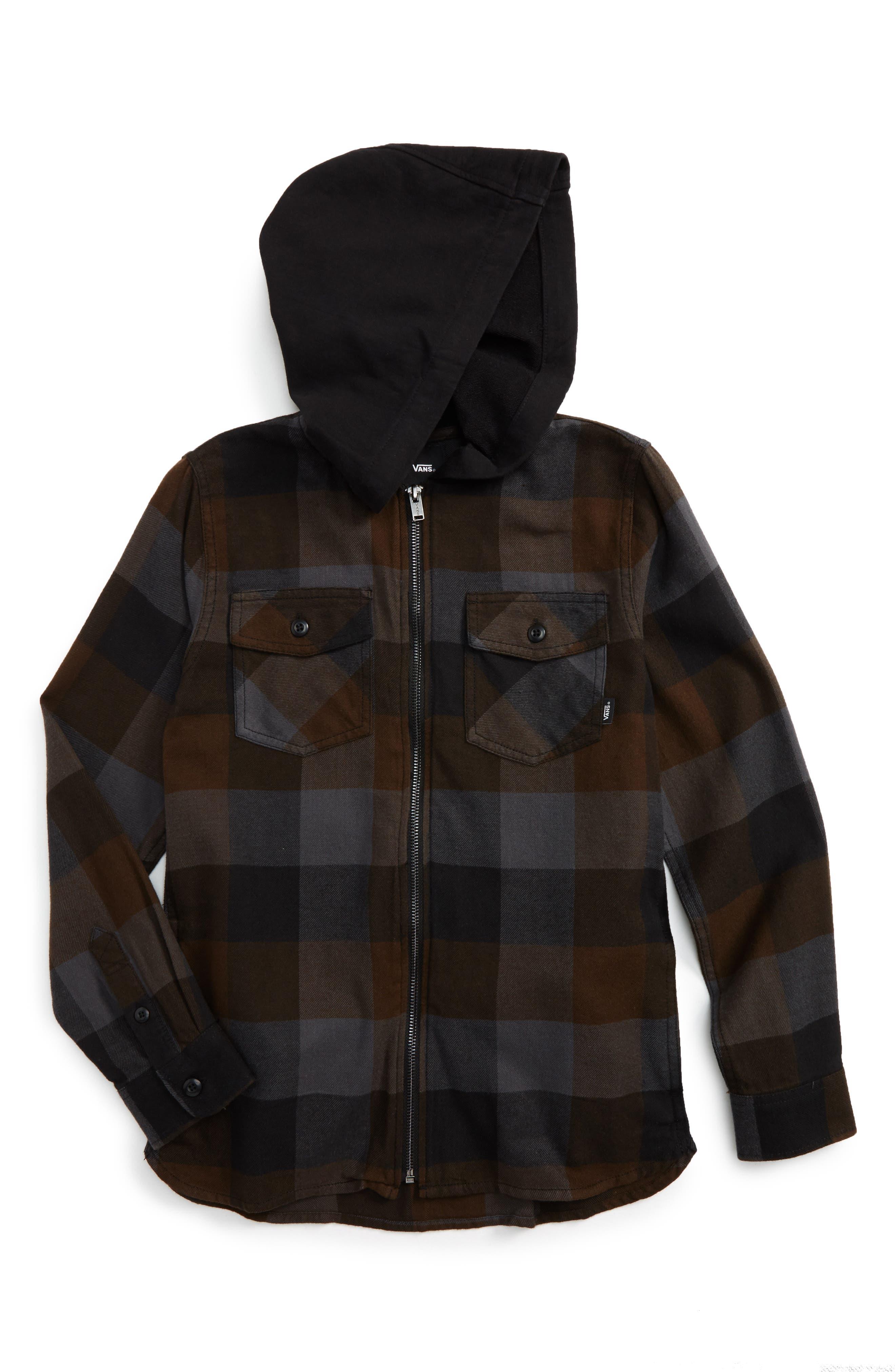 Vans Never Mind Full Zip Hooded Jacket (Big Boys)