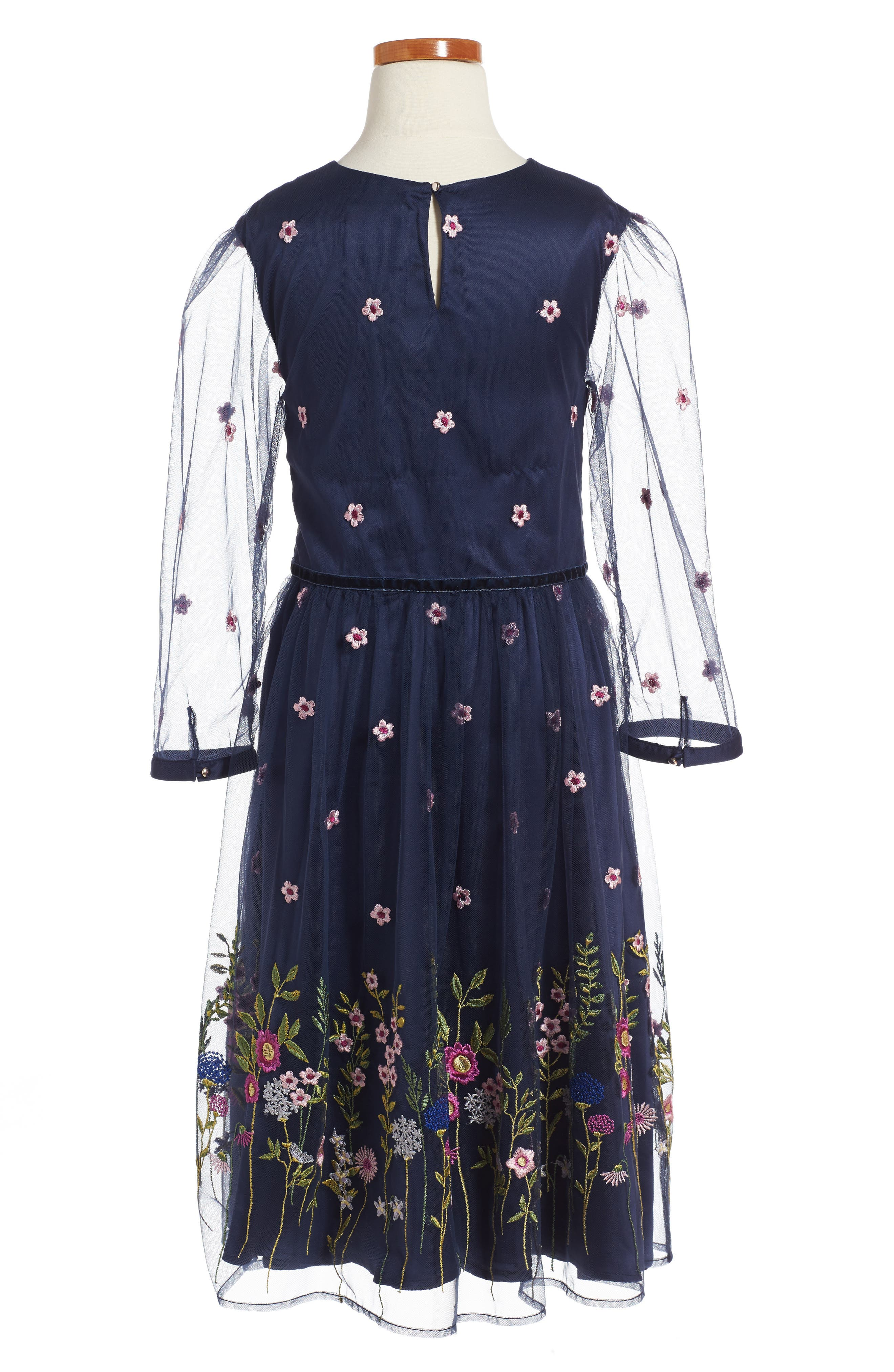 Alternate Image 2  - Oh My Meadow Embroidered Dress (Little Girls & Big Girls)